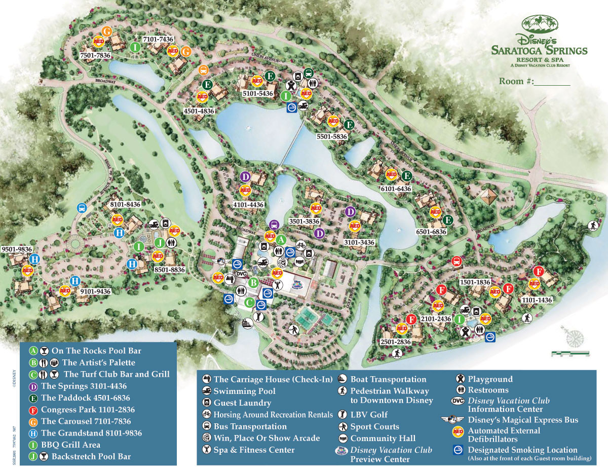 Printable Map Disney Springs Lovely Saratoga Springs Resort Spa Map Wdwinfo