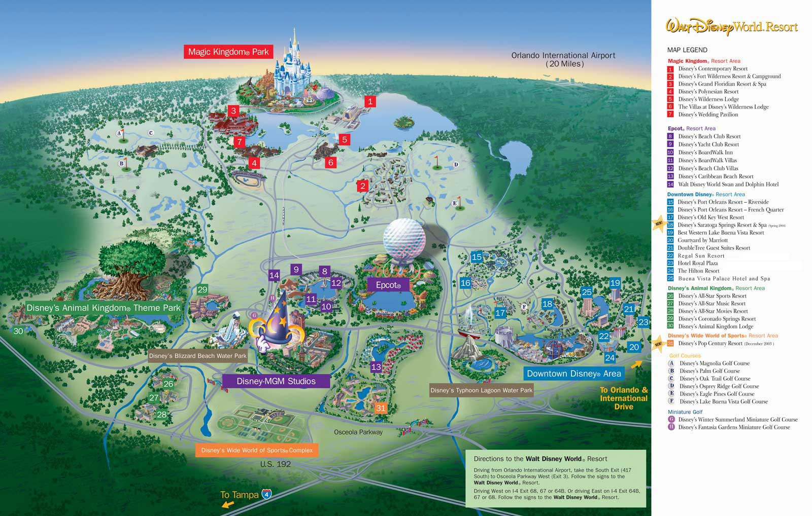 Map of Walt Disney World Resort