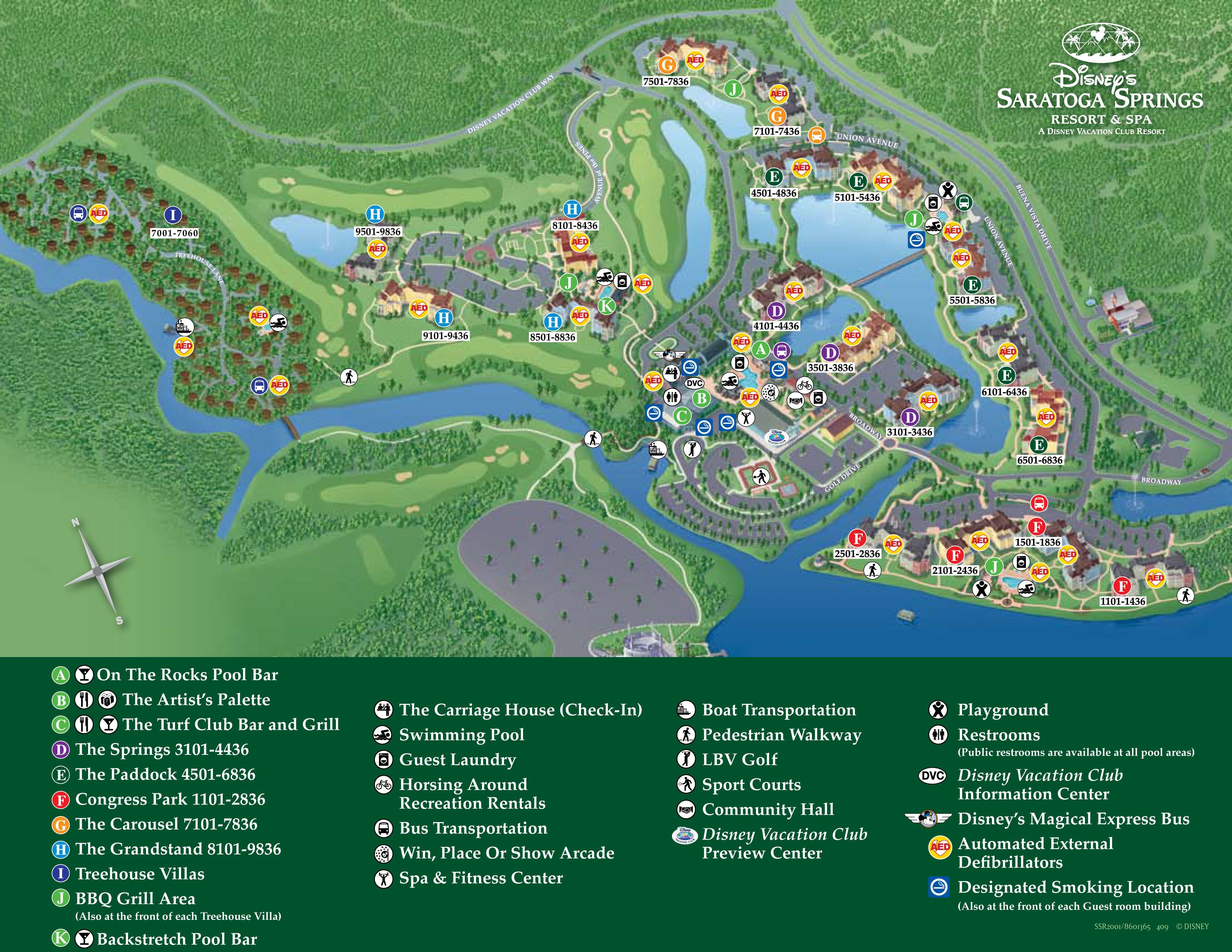 Printable Map Disney Springs Luxury Saratoga Springs Resort Map Disney World Maps