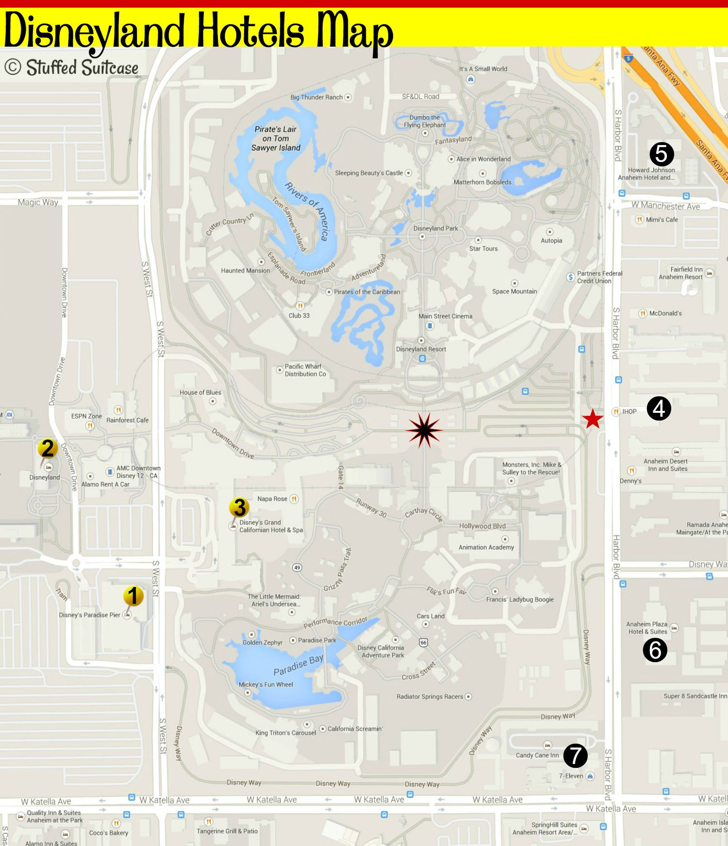 Printable Map Disneyland Best Of Hotels by Disneyland How to Choose where to Stay