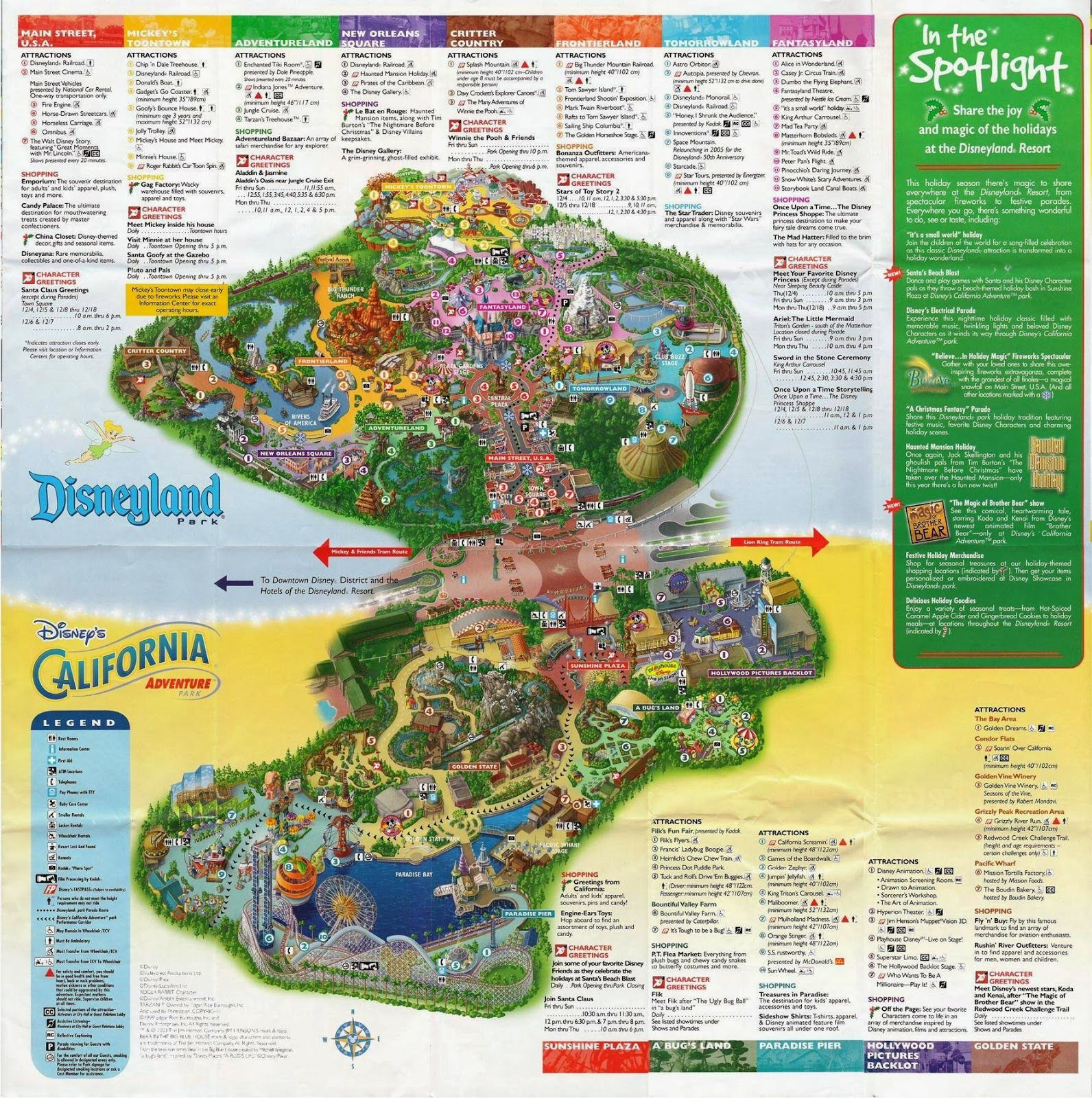 Printable Map Disneyland California Detailed California