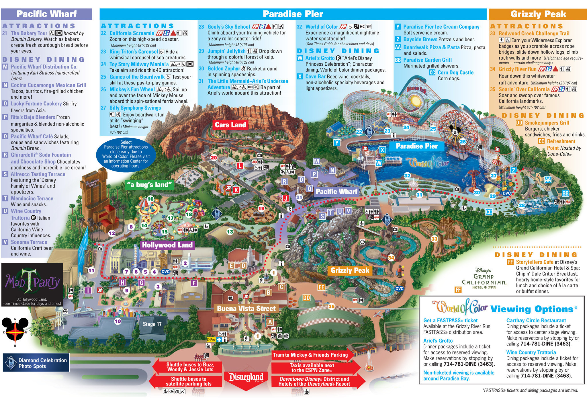 Printable Map Disneyland California Best Of California Adventure Land Map Valid Printable Map Disneyland