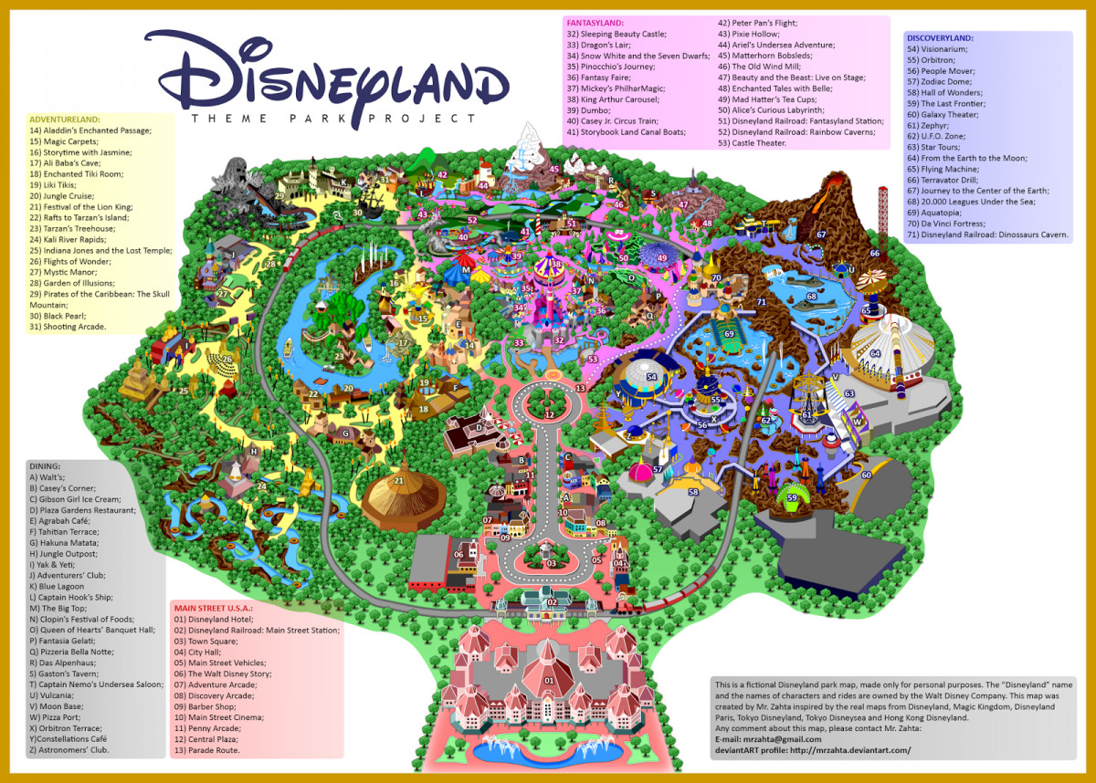Map California California Disneyland Map California Map