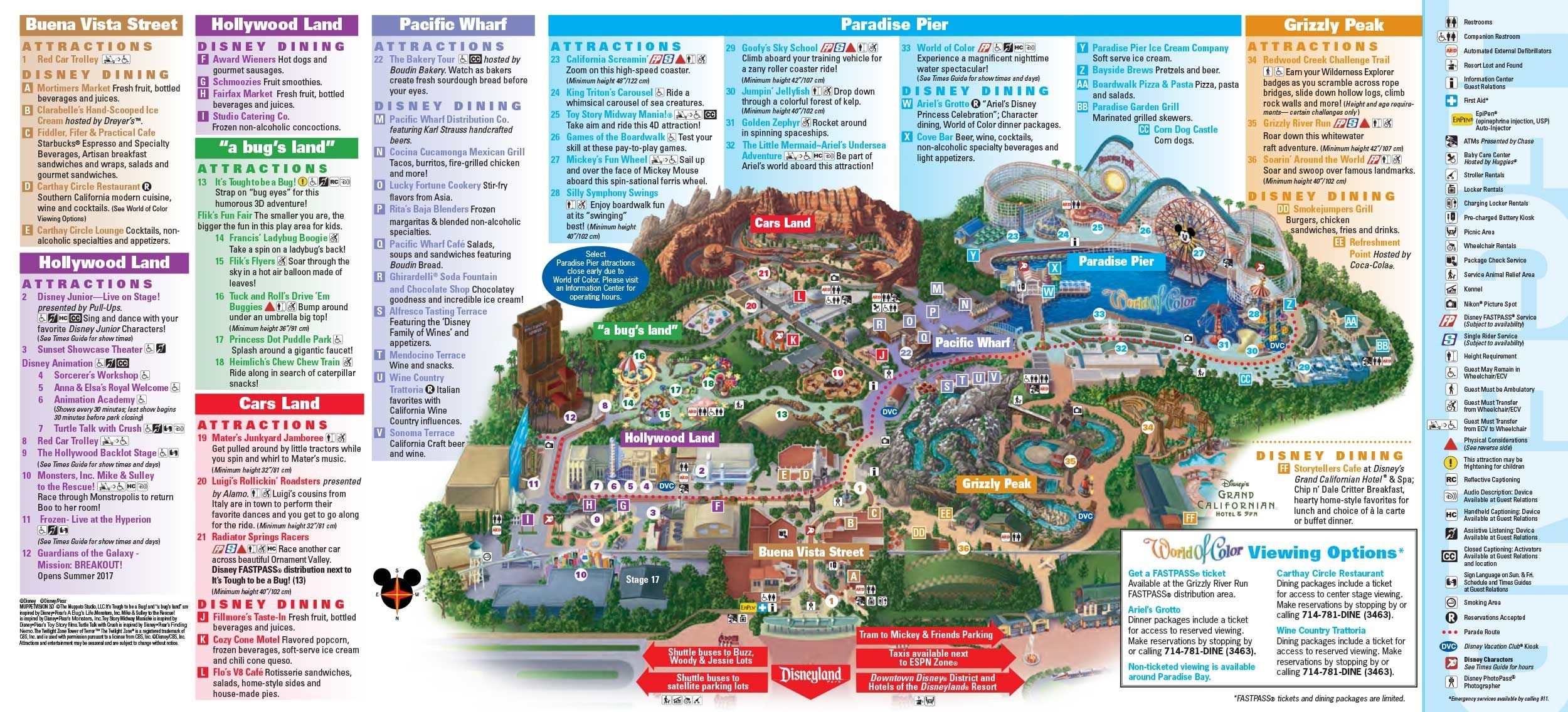 Disneyland Park Map In California Map Disneyland within Printable Disney Maps