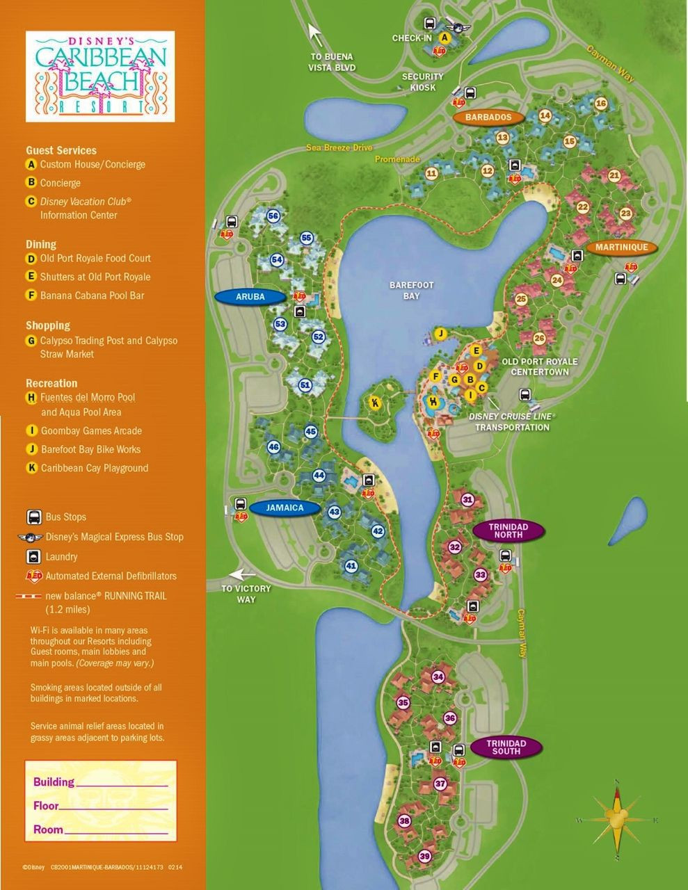 Printable Map Disneyland New The Villages Of Disney S Caribbean Beach Resort Disney