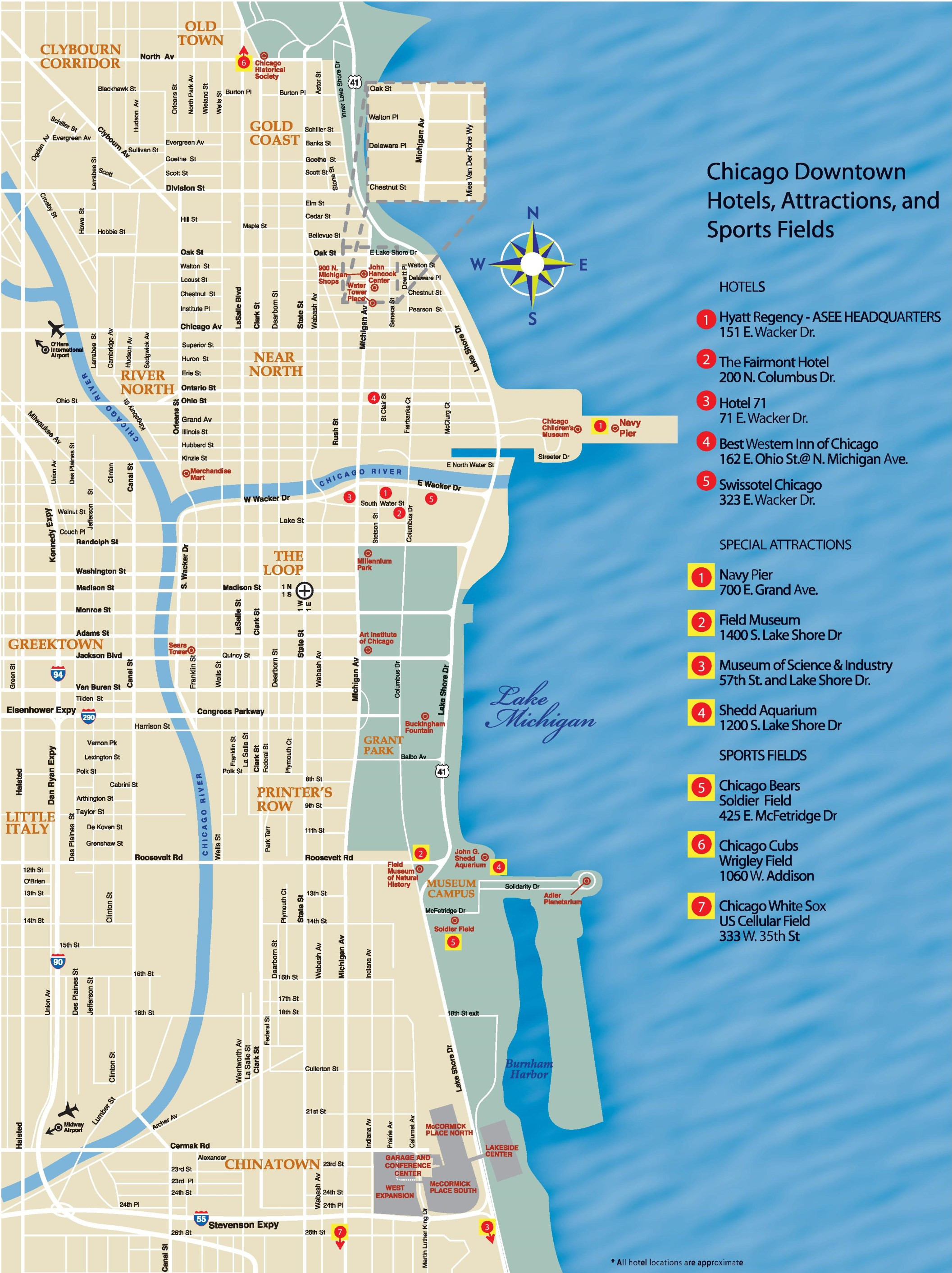 Printable Map Downtown Chicago Best Of Houston Downtown Hotels And Sightseeings Map [hd ] Wallpaper