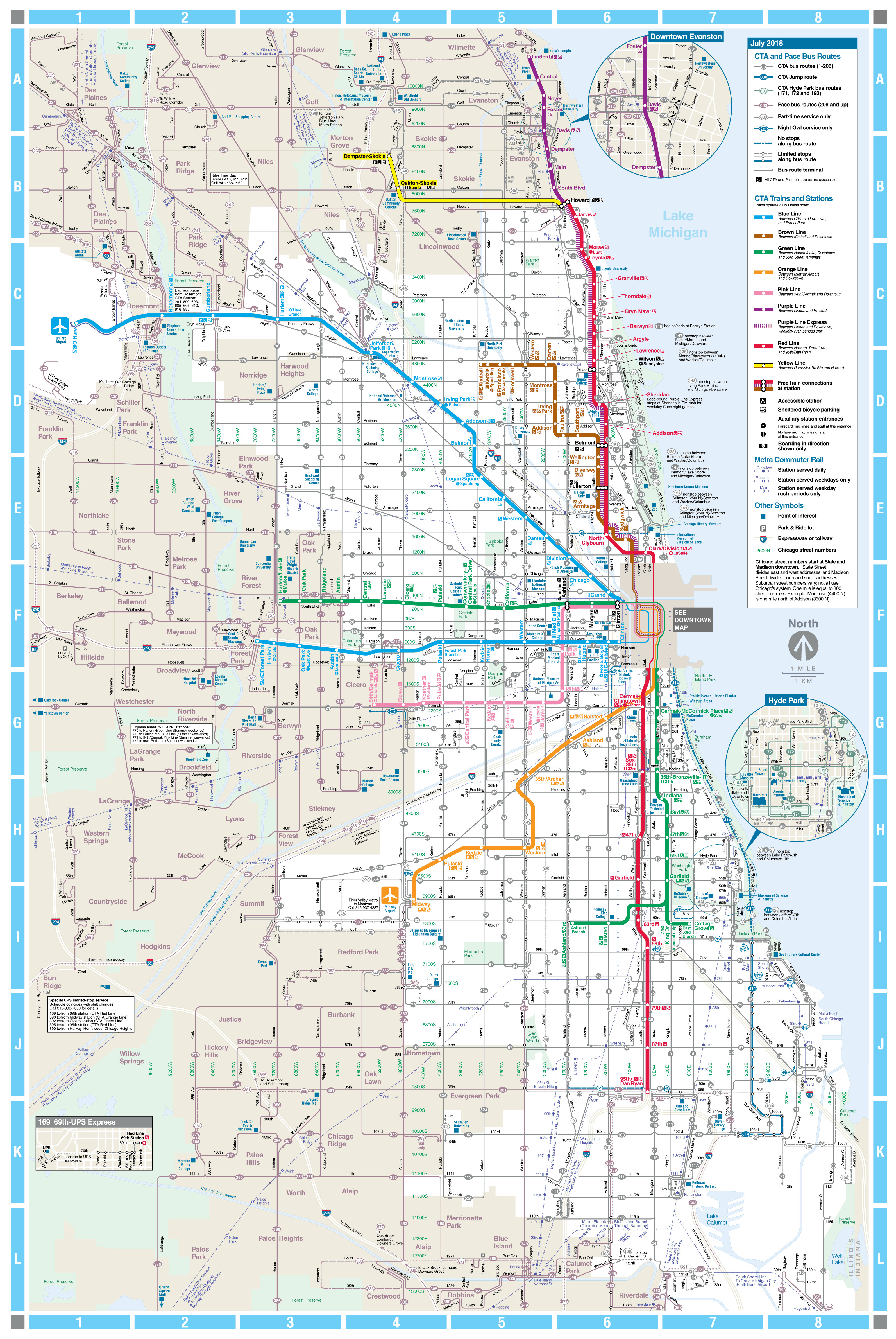 Printable Map Downtown Chicago Inspirational Web Based System Map Cta