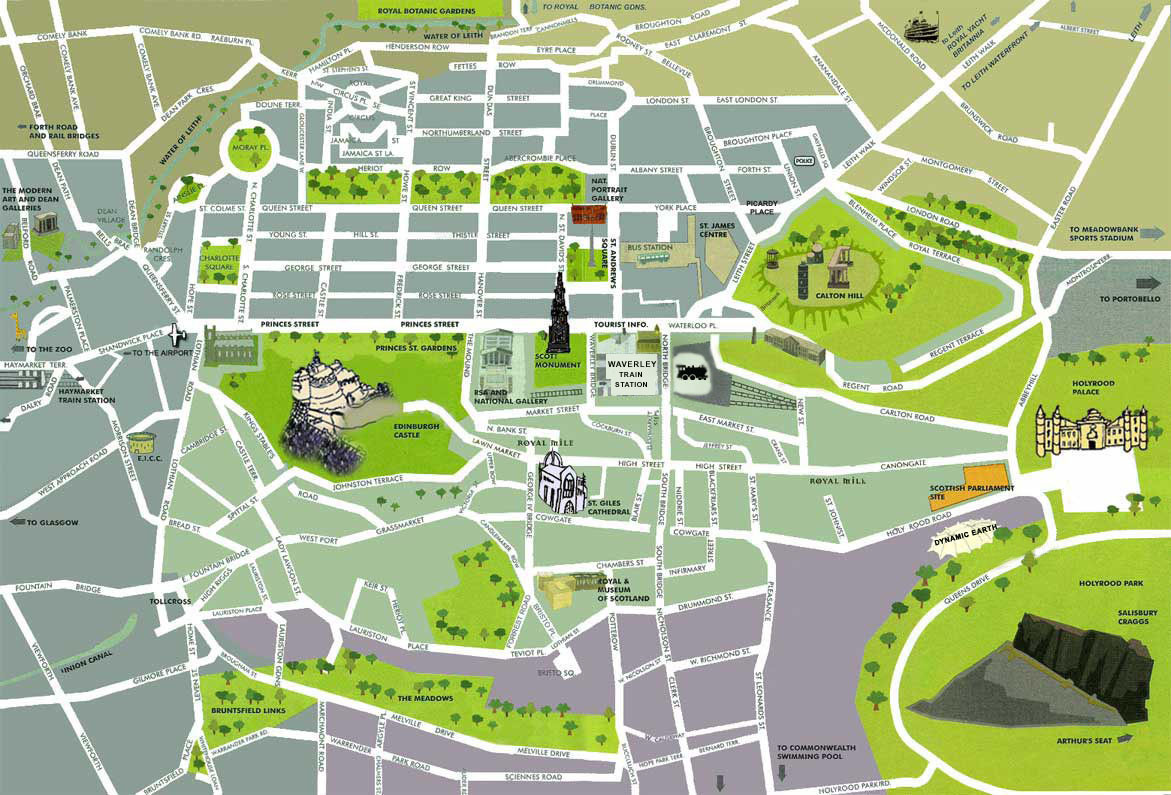 Printable Map Edinburgh City Centre Unique Tourist Map Edinburgh City Centre Fresh Historic Edinburgh Carto