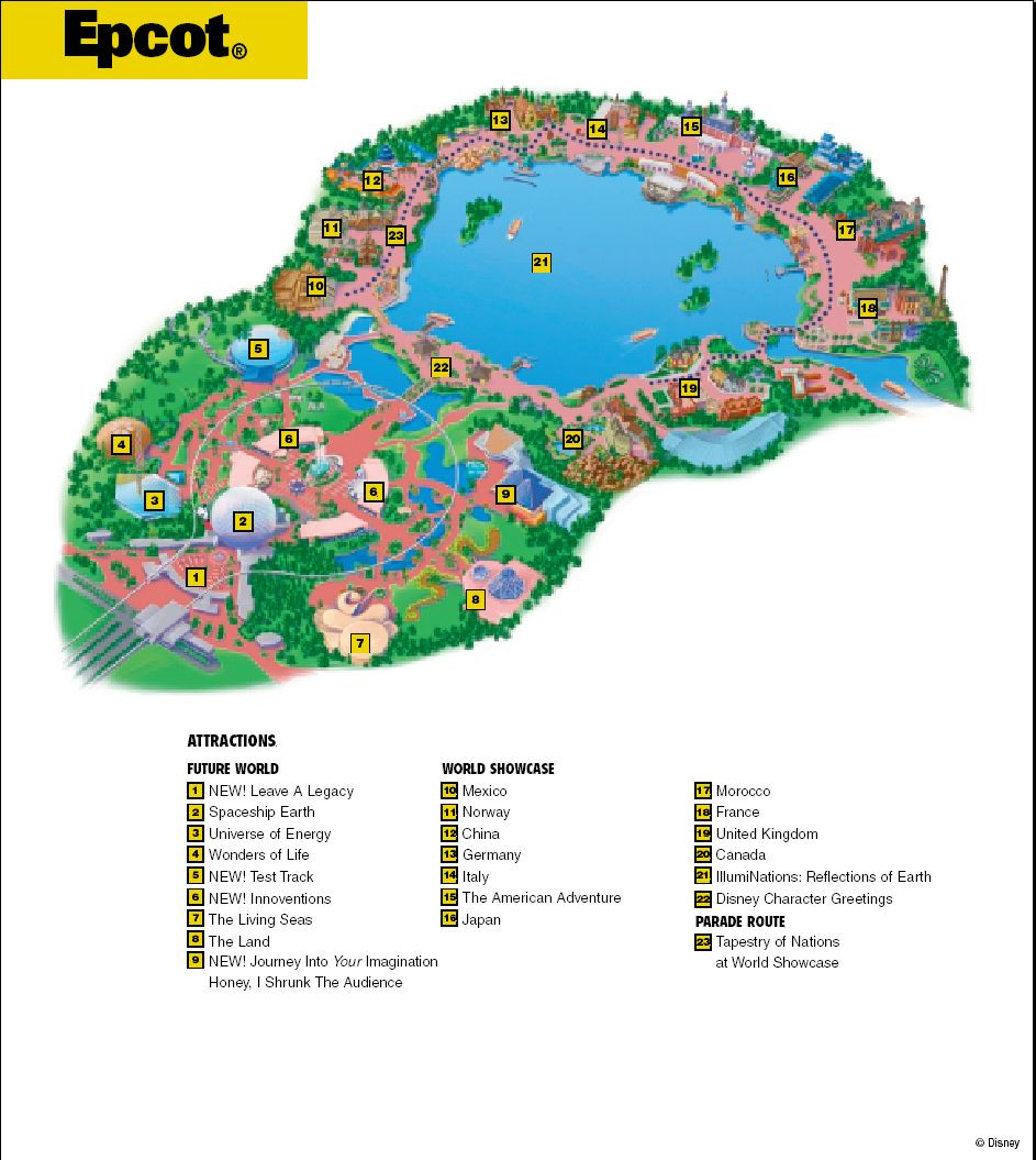 Printable Map Epcot Elegant Epcot Map Wdw Epcot Pinterest