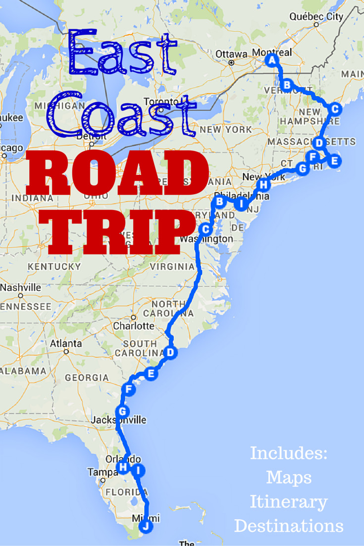 Printable Map For Road Trip Elegant The Best Ever East Coast Road Trip Itinerary