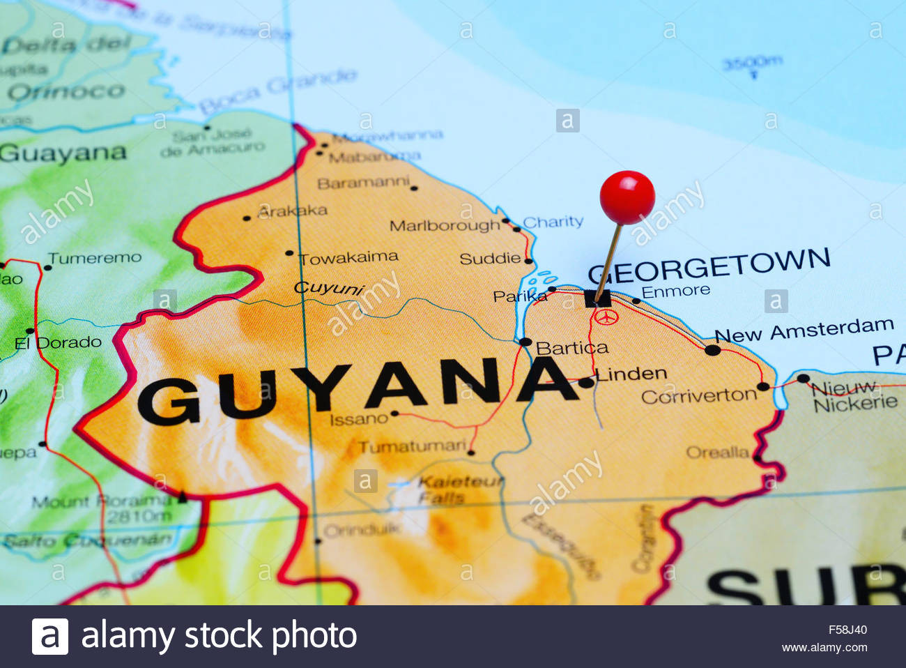 Printable Map Georgetown Penang Awesome Geor Own Guyana Stock S & Geor Own Guyana Stock Alamy