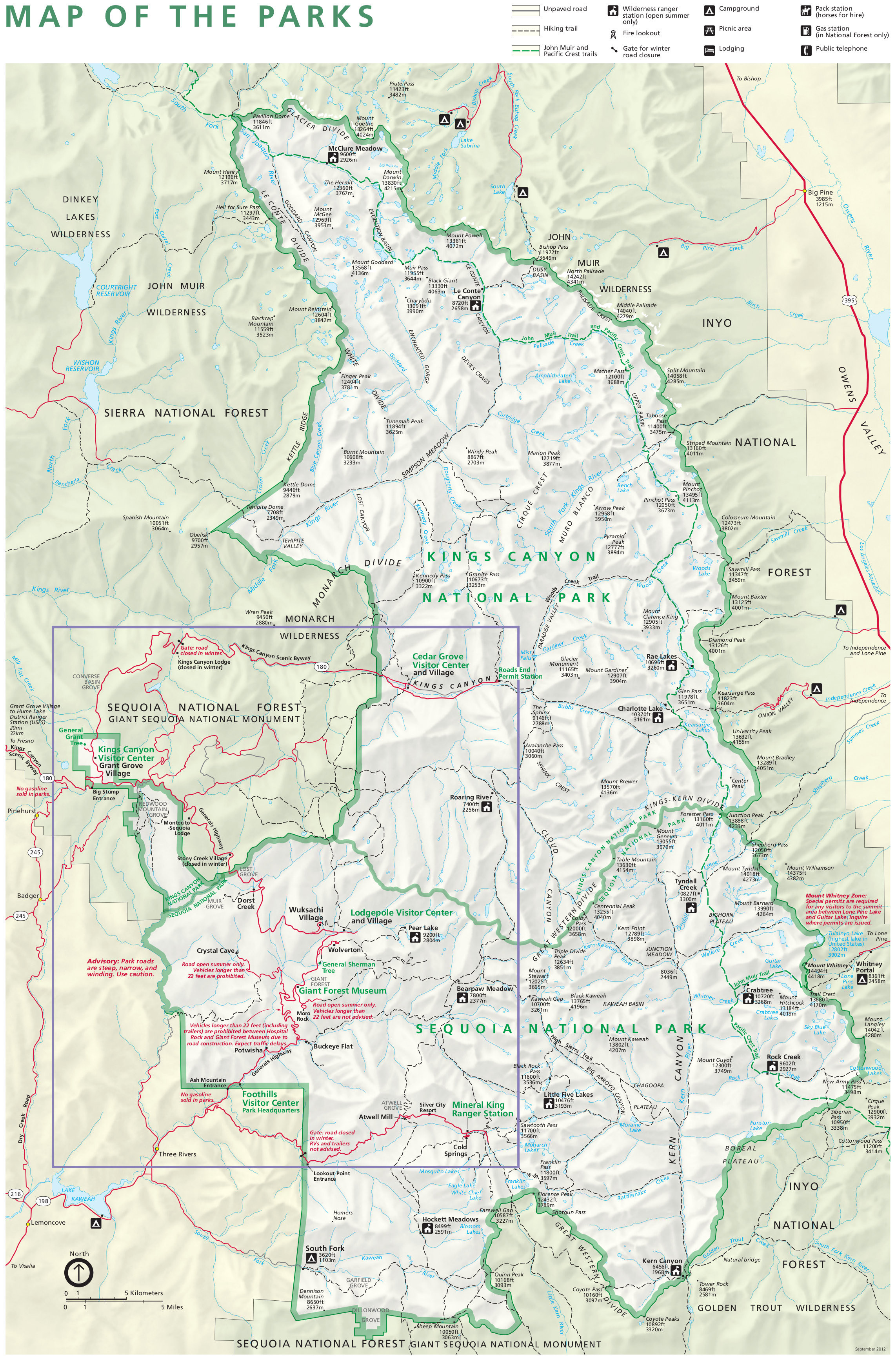 Printable Map Glacier National Park Unique Map California National Parks Free Printable Kings Canyon National