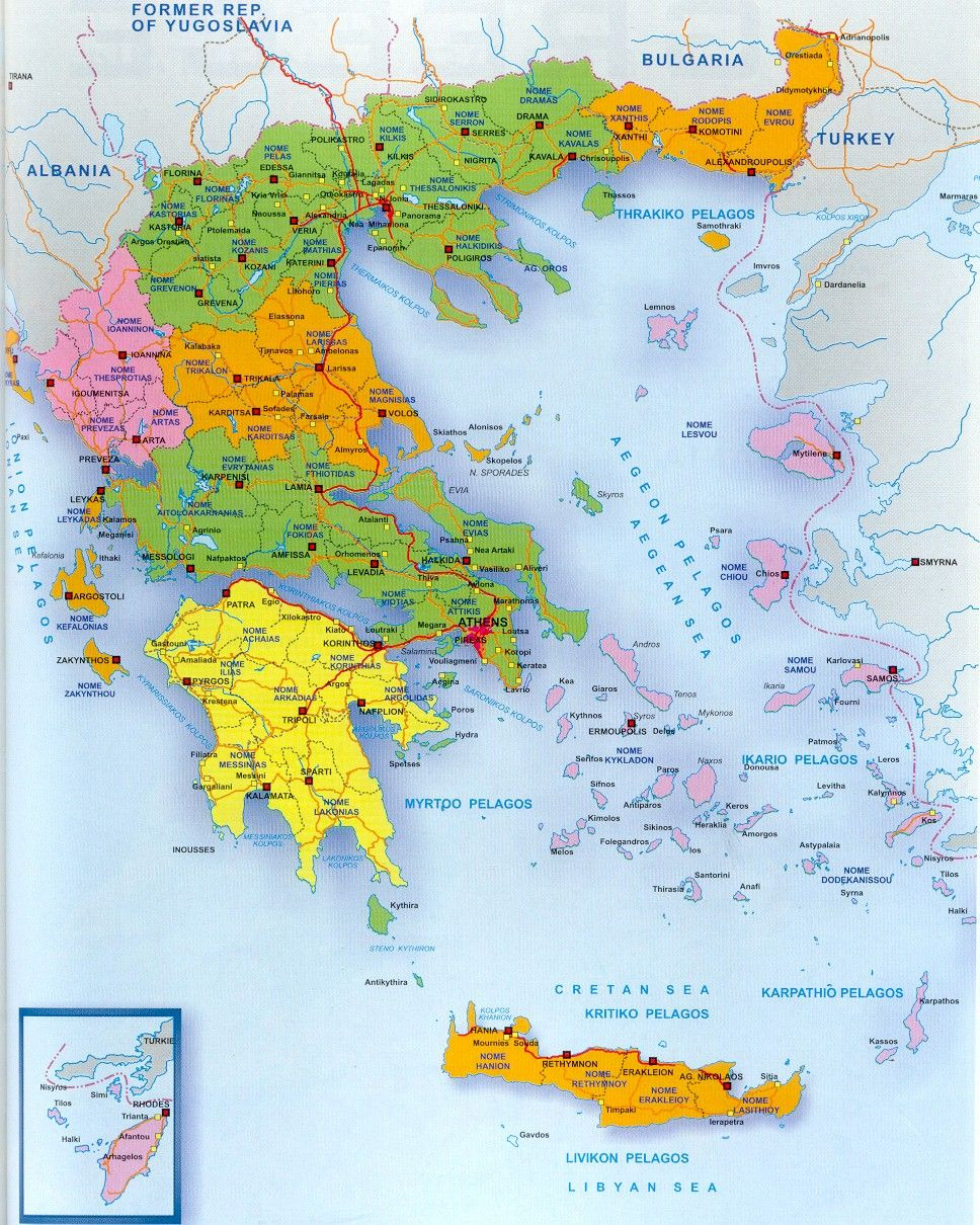 Printable Map Greece Awesome A Map Of Greece And The Greek Islands