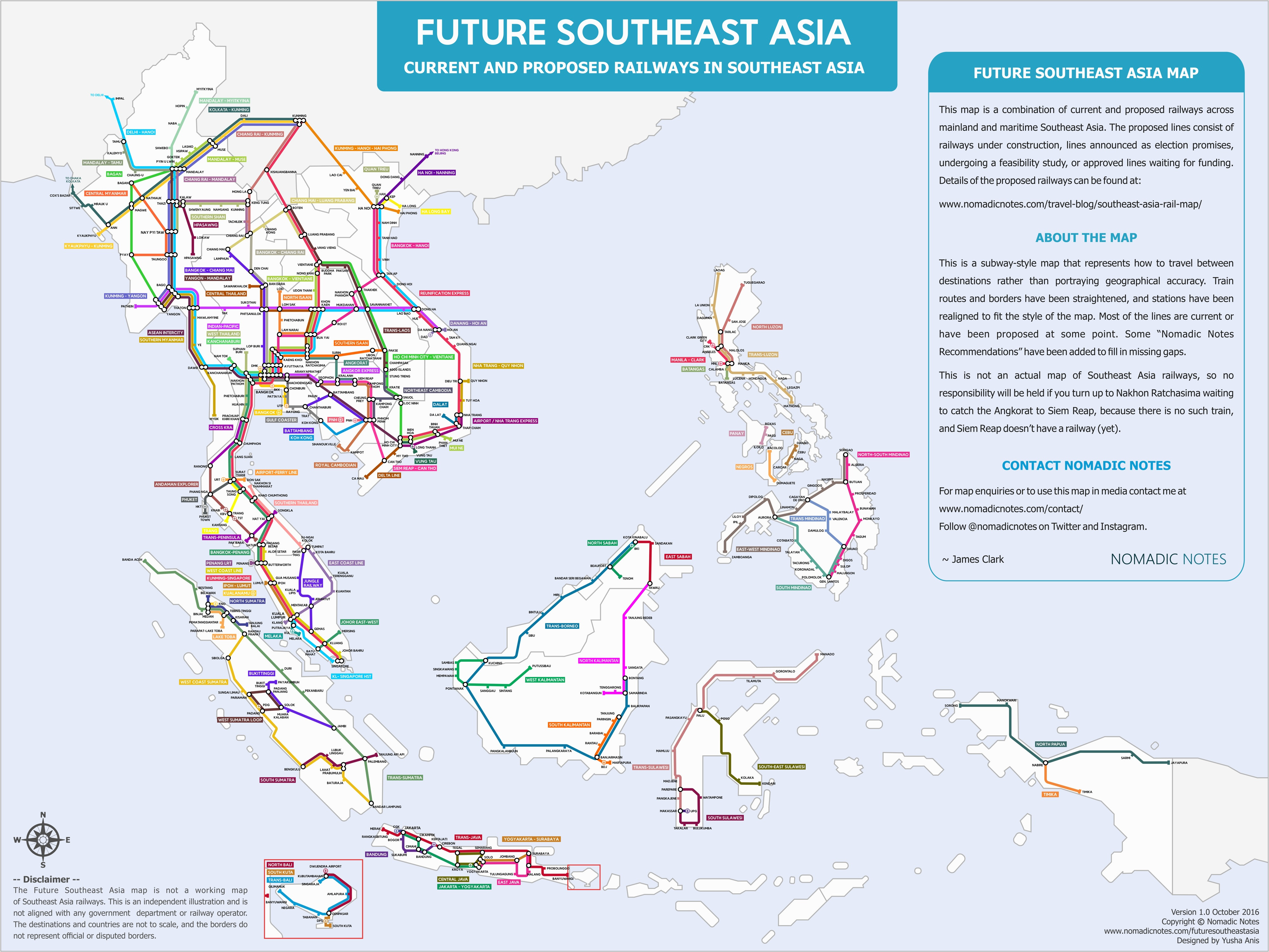 Printable Map Grid Beautiful Southeast Asia Current And Proposed Railways [2017] National