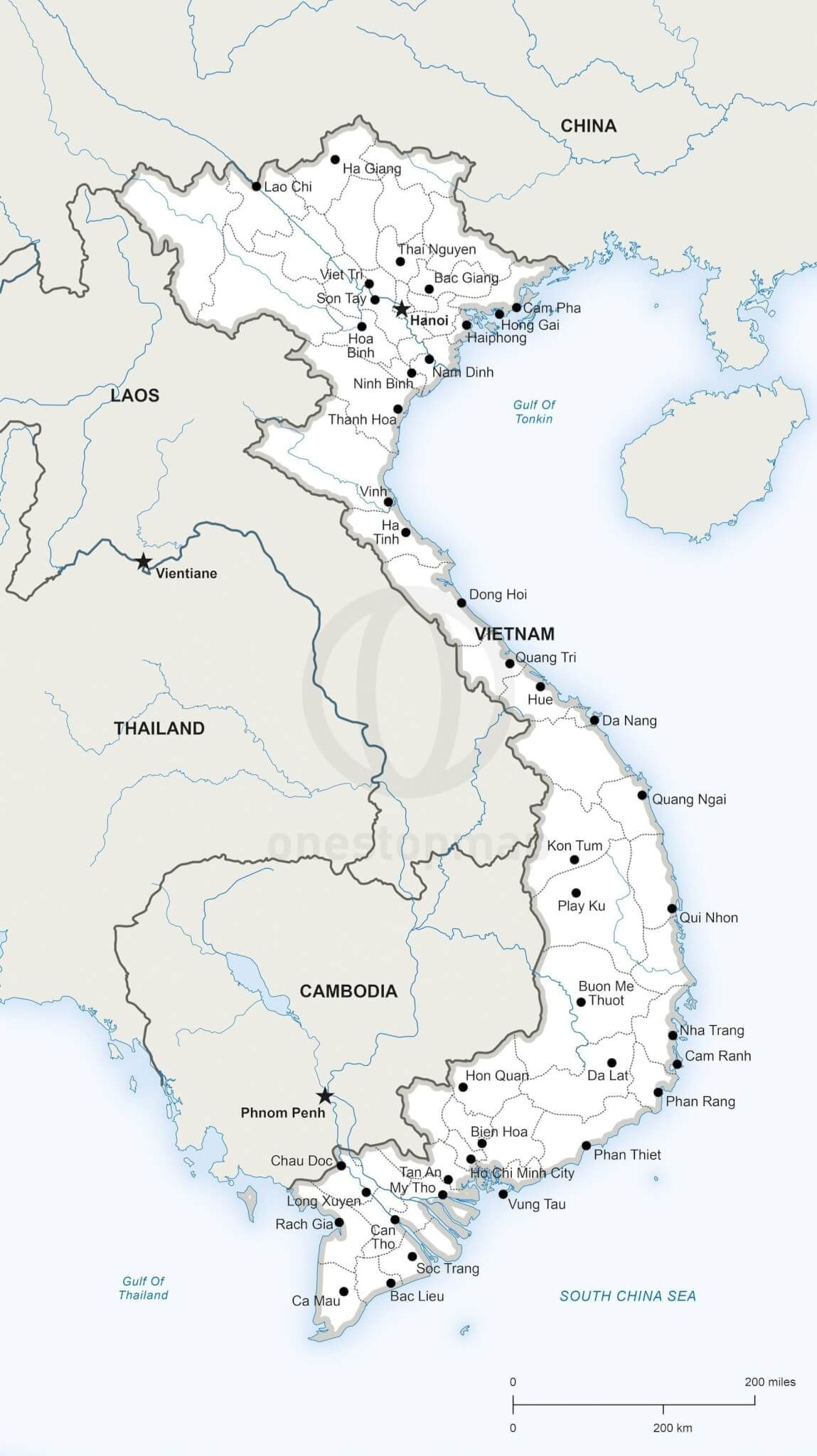 Printable Map Vietnam