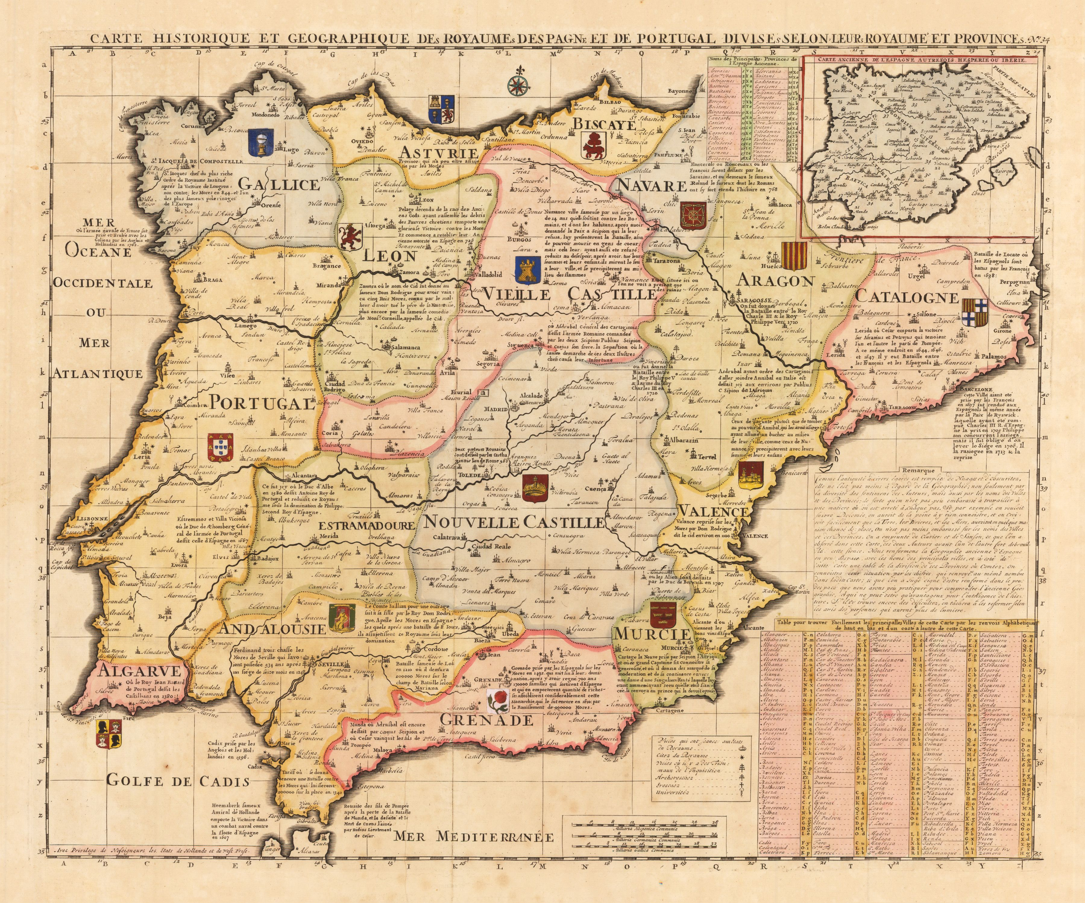 Printable Map Havana Beautiful French Map Of Spain And Portugal Early 18th Century