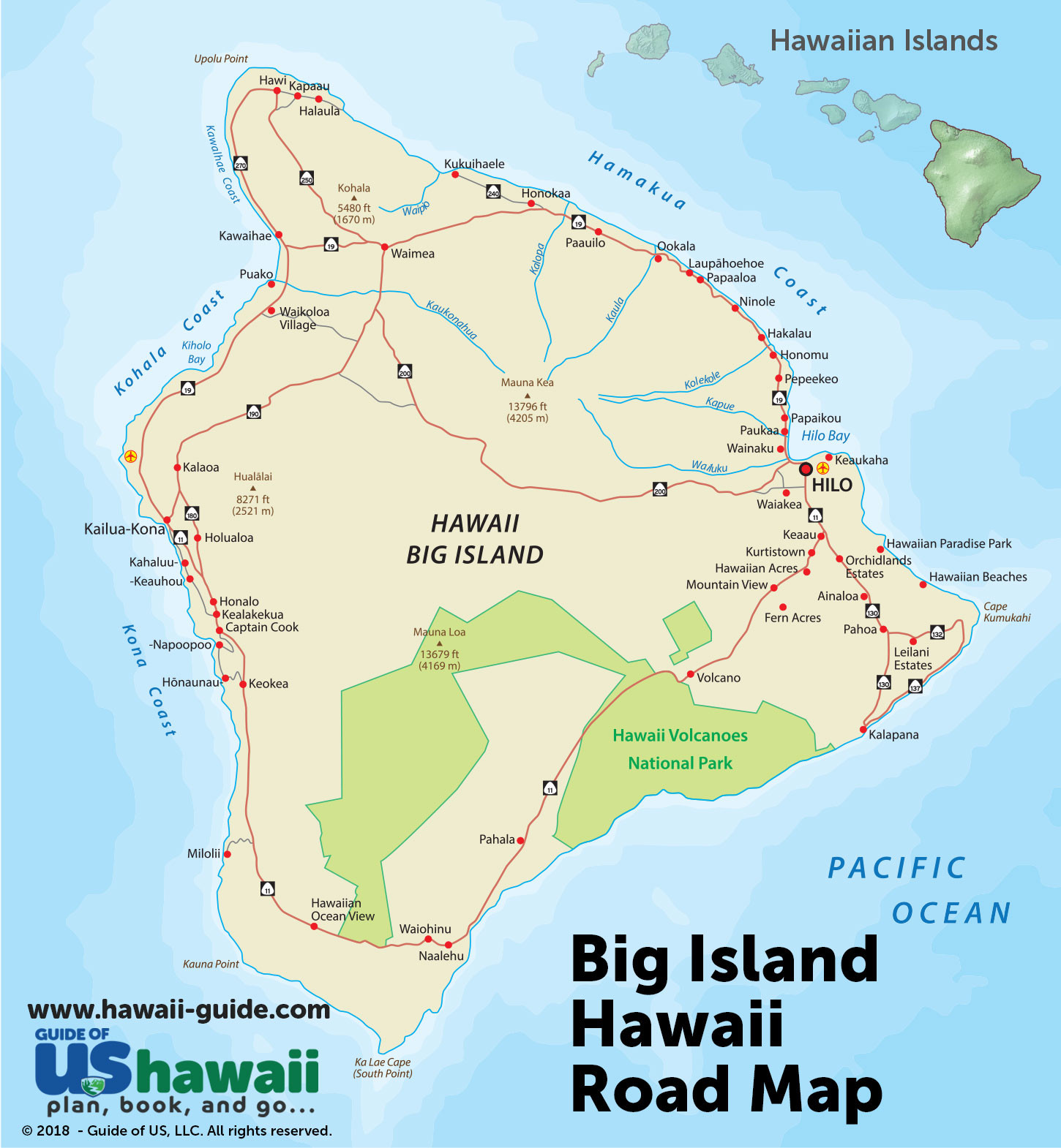 Big Island Road Map