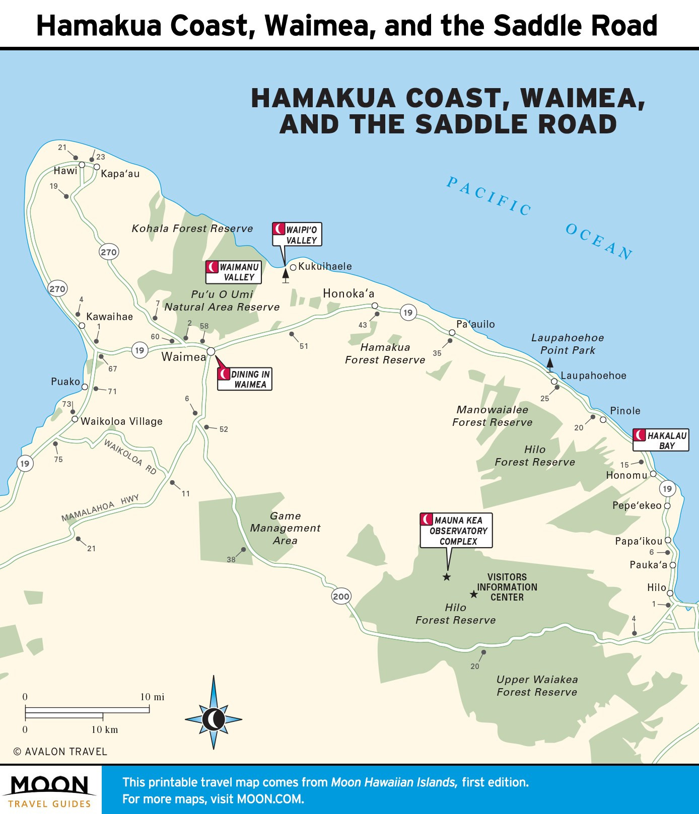 10 Inspirational Printable Map Hawaii Big island