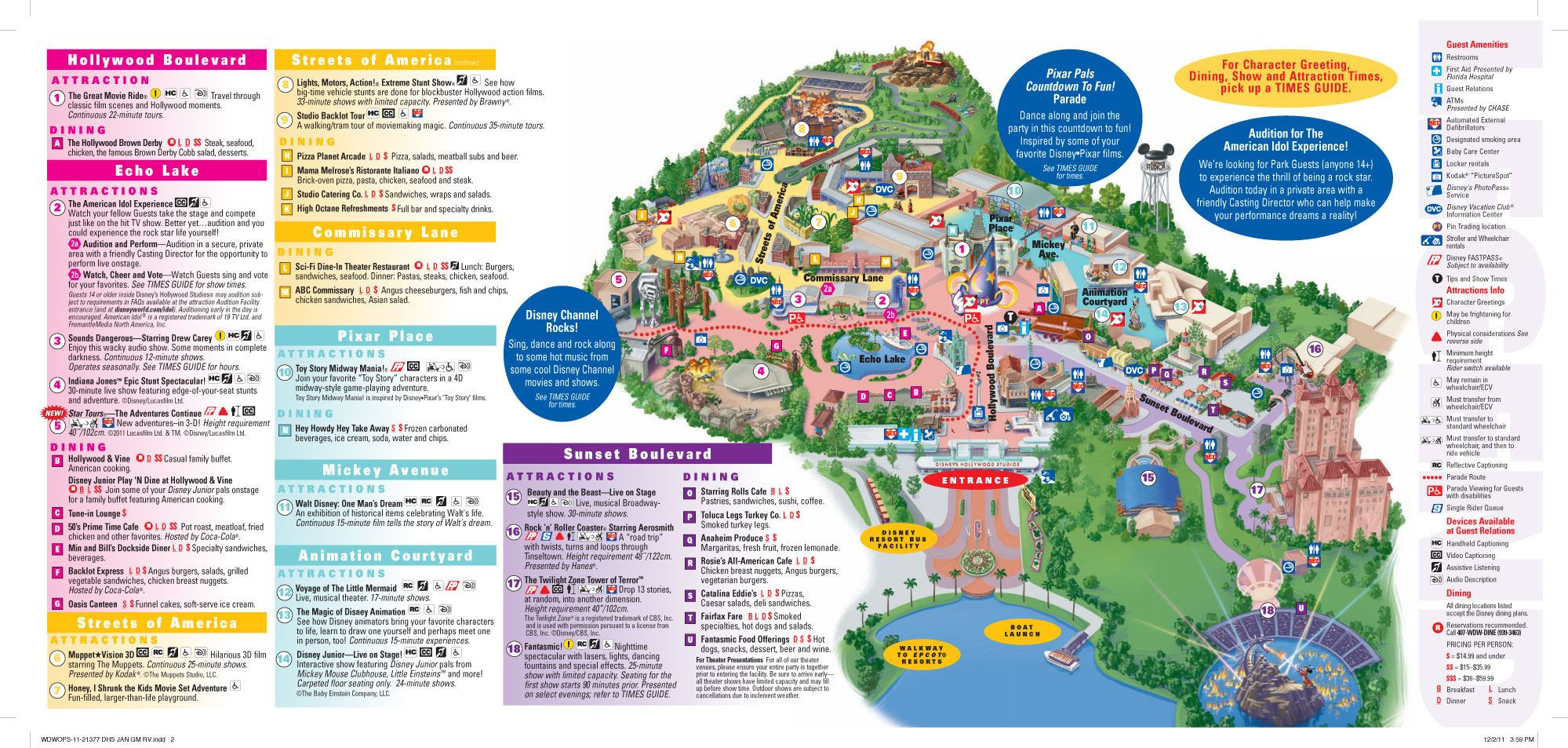 Printable Map Hollywood Studios Awesome Dreaming Of Disney Hollywood Studios Disney
