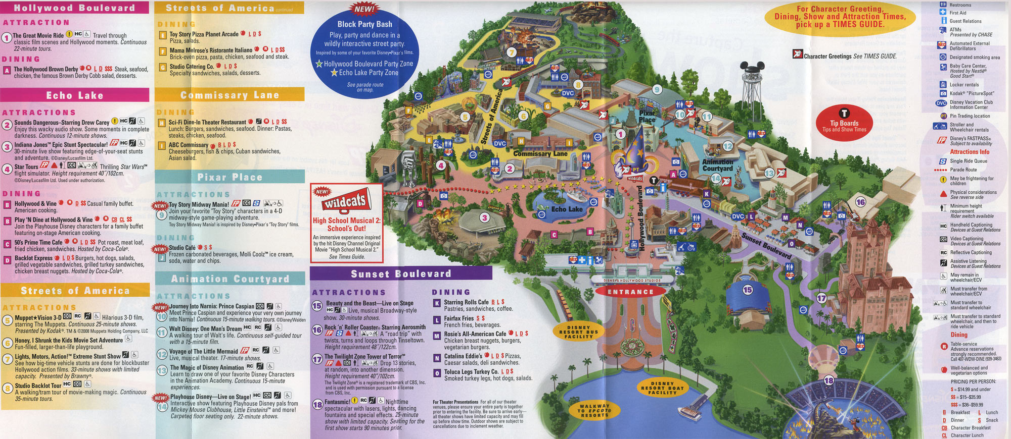 Printable Map Hollywood Studios Beautiful Theme Park Brochures Disney S Hollywood Studios Theme Park Brochures
