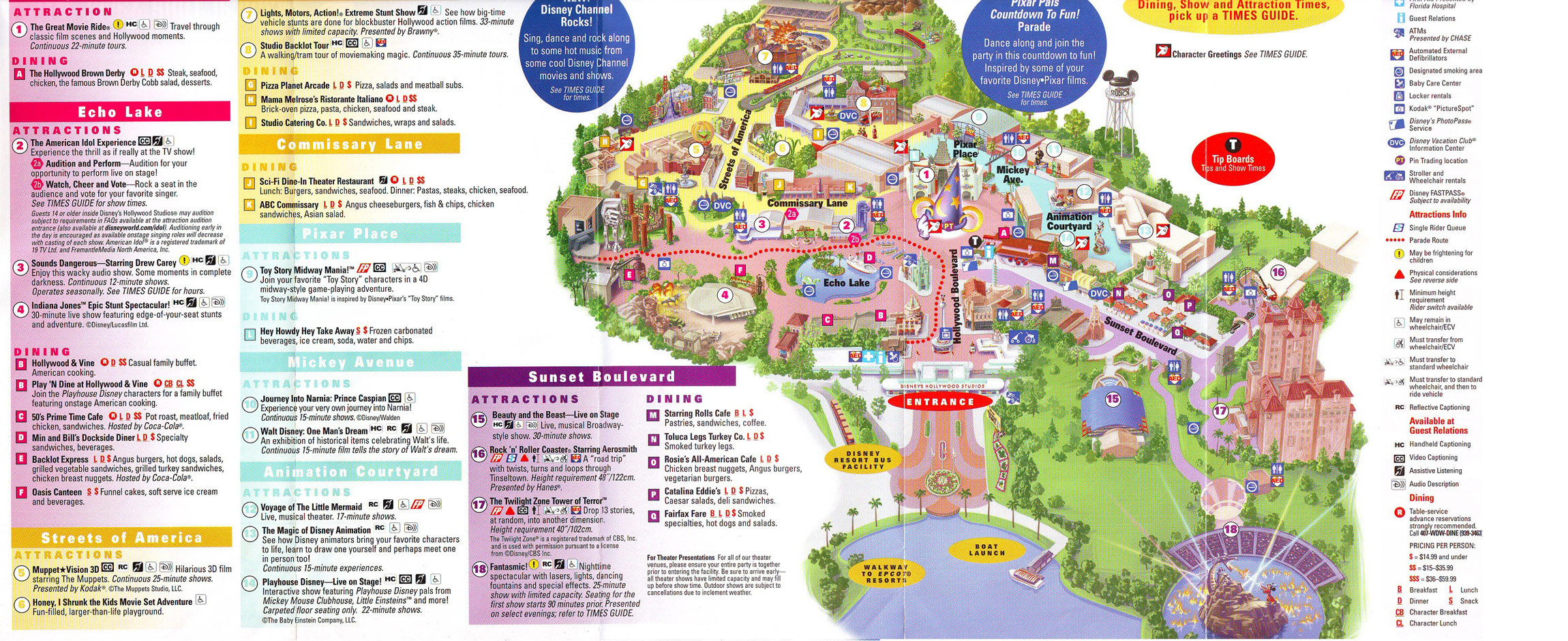 Printable Map Hollywood Studios Lovely Map Disney World Hollywood Studios Yuehu