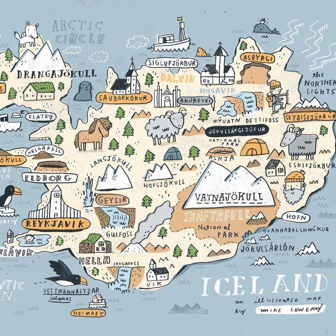 Printable Map Iceland Inspirational Sneak Peek At My Iceland Map Iceland Sketchbook Available Soon
