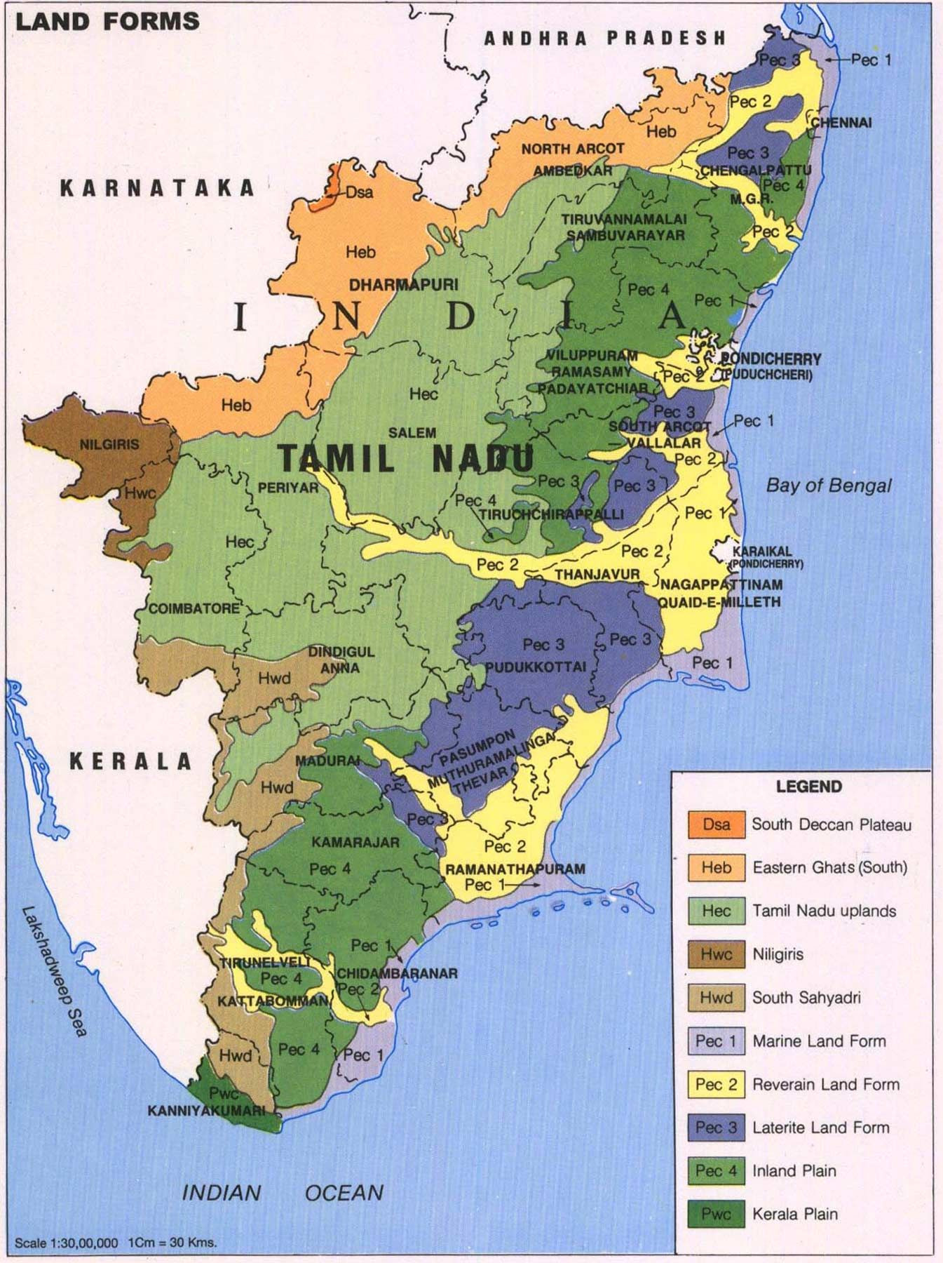 Tamil Nadu Map 122 INDIAN States & Territories