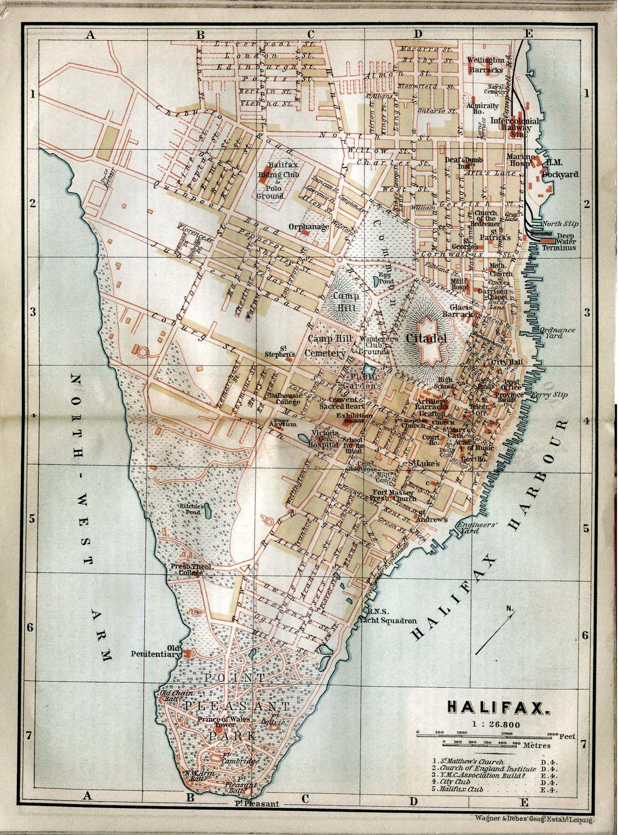 Vintage Halifax Map The city has grown a