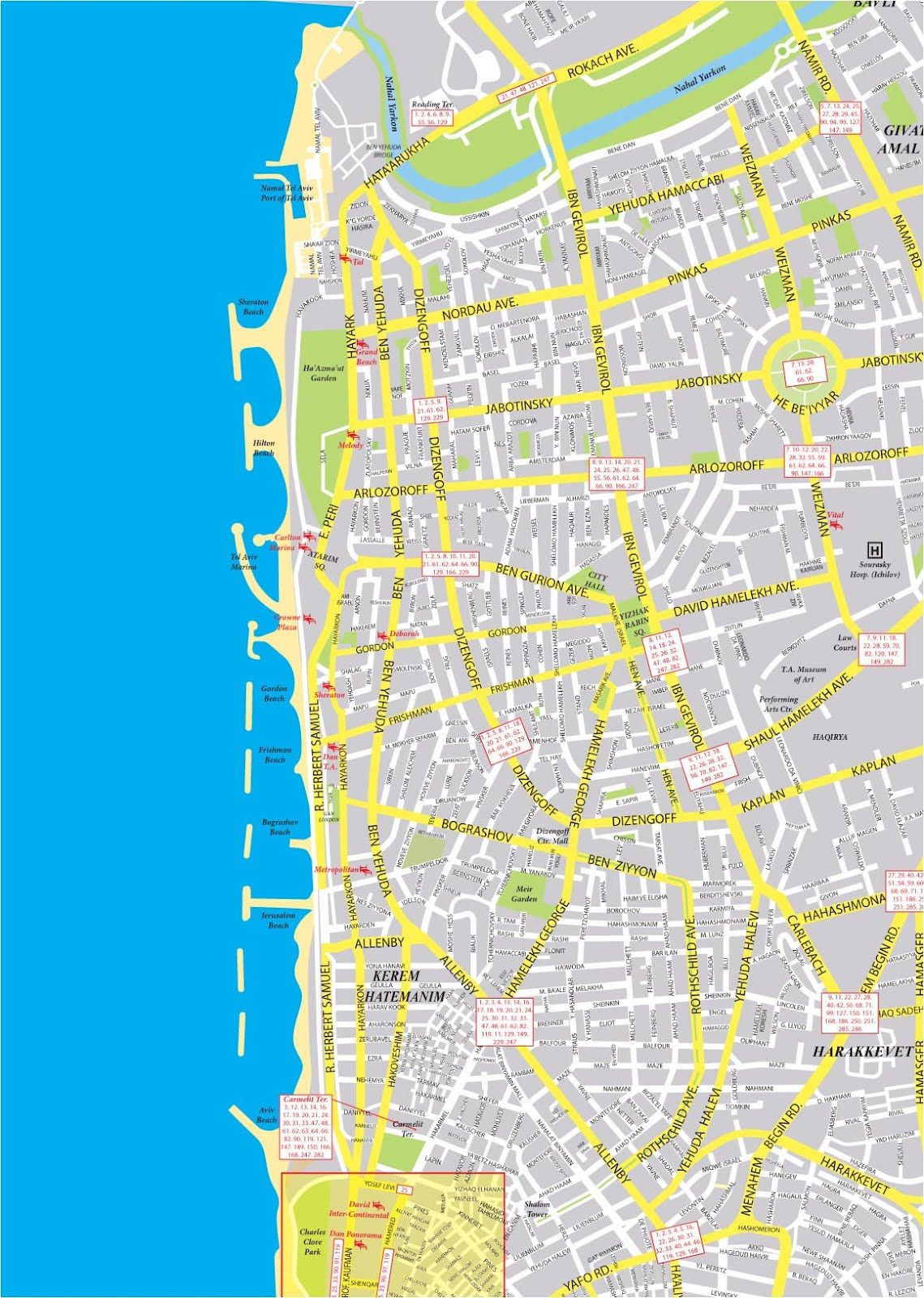 Printable Map Israel New Map Of Tel Aviv Maps About Israel
