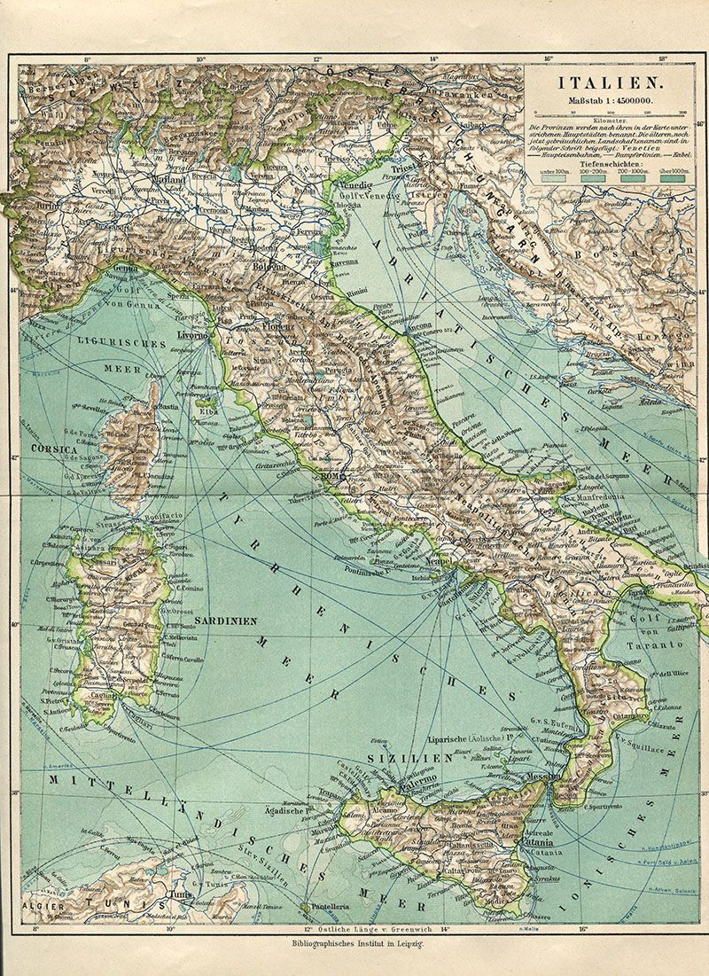 Printable Map Italy Luxury Wonderful Free Printable Vintage Maps To Download