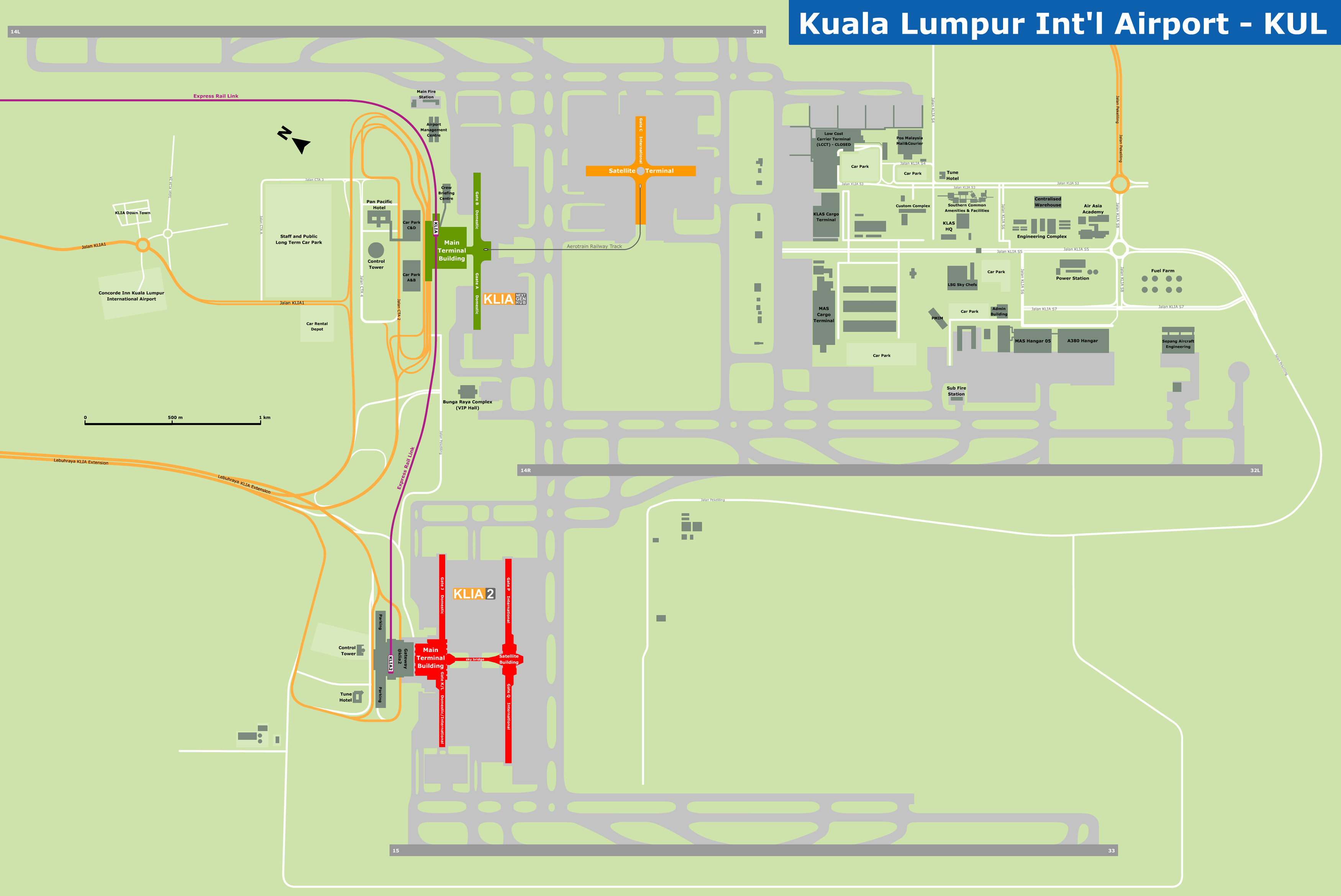 Printable Map Kuala Lumpur Unique The Essential Guide To Klia2 Airport