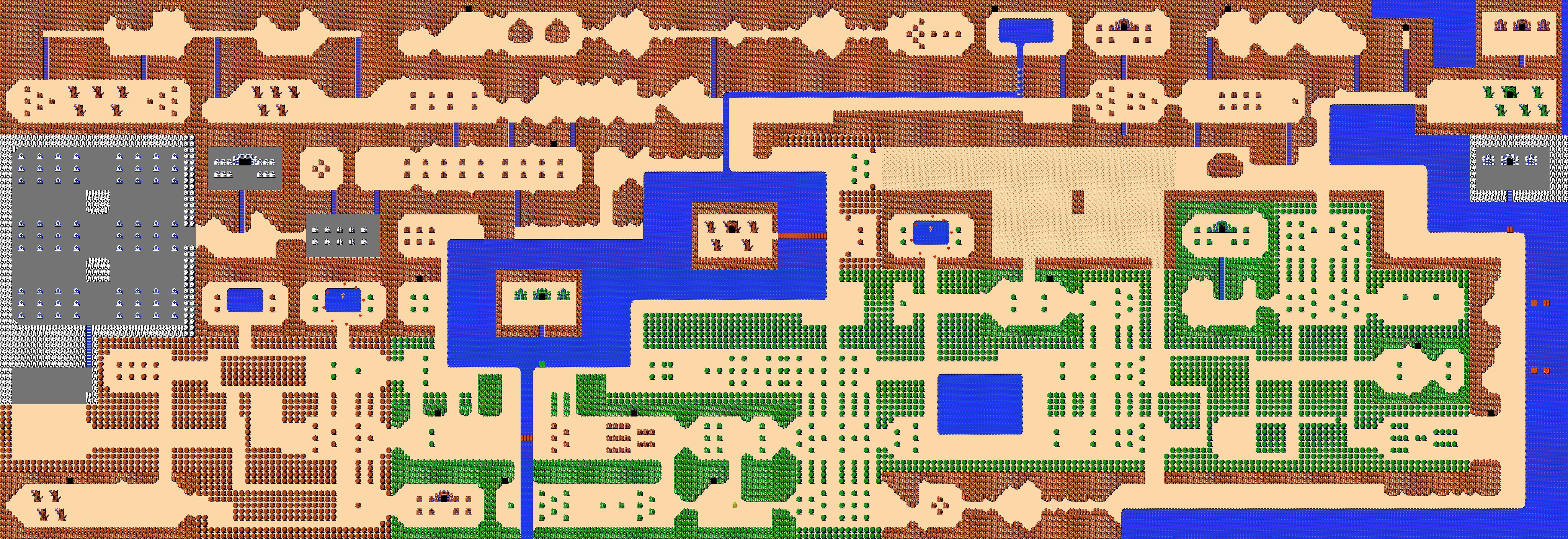 Zelda overworld map