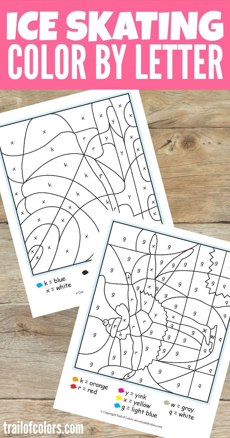 Printable Map Letters Unique Ice Skating Color by Letter Noel Pinterest
