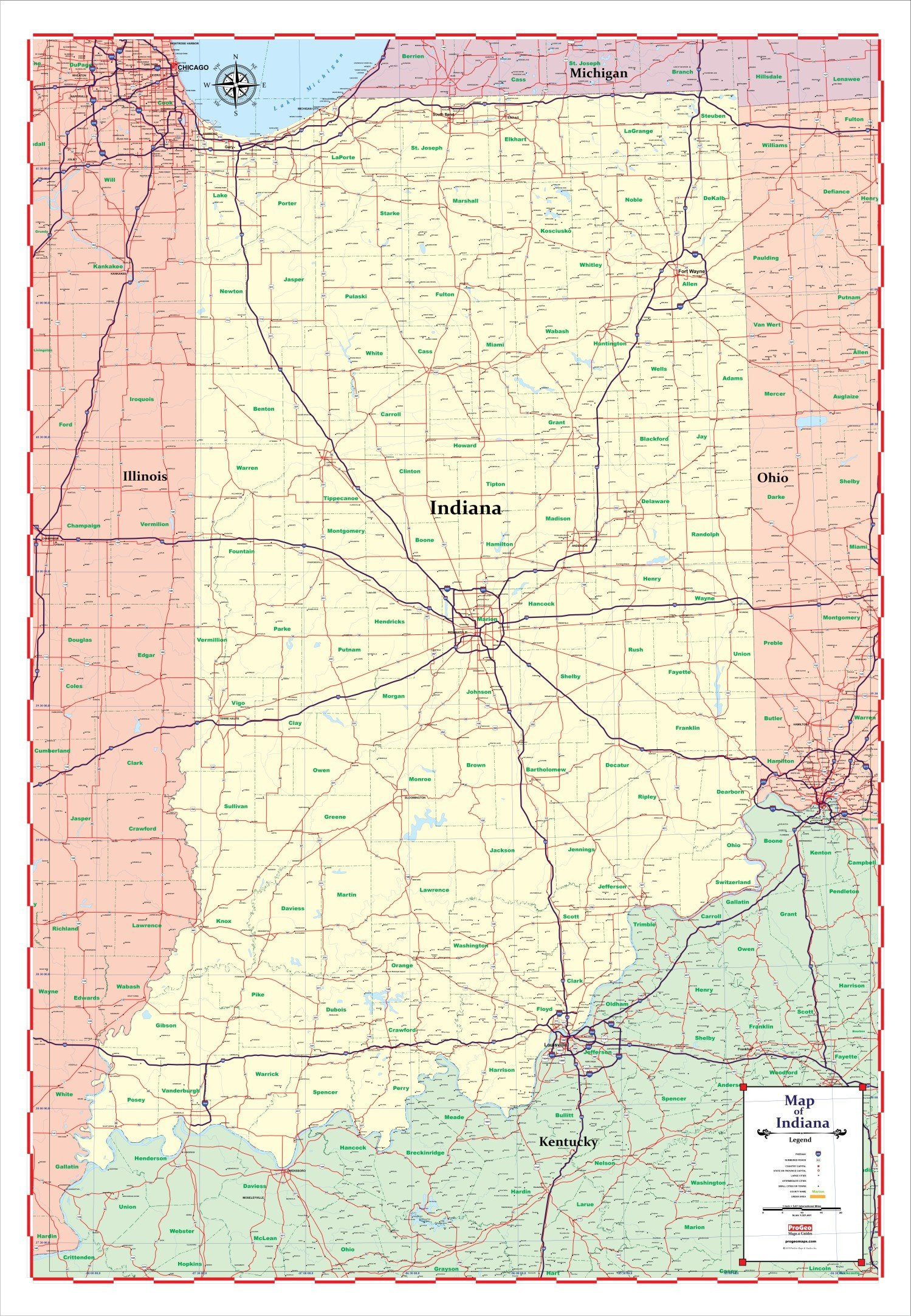 Printable Map Lincoln Unique New Southern Indiana Map With Cities Uptuto