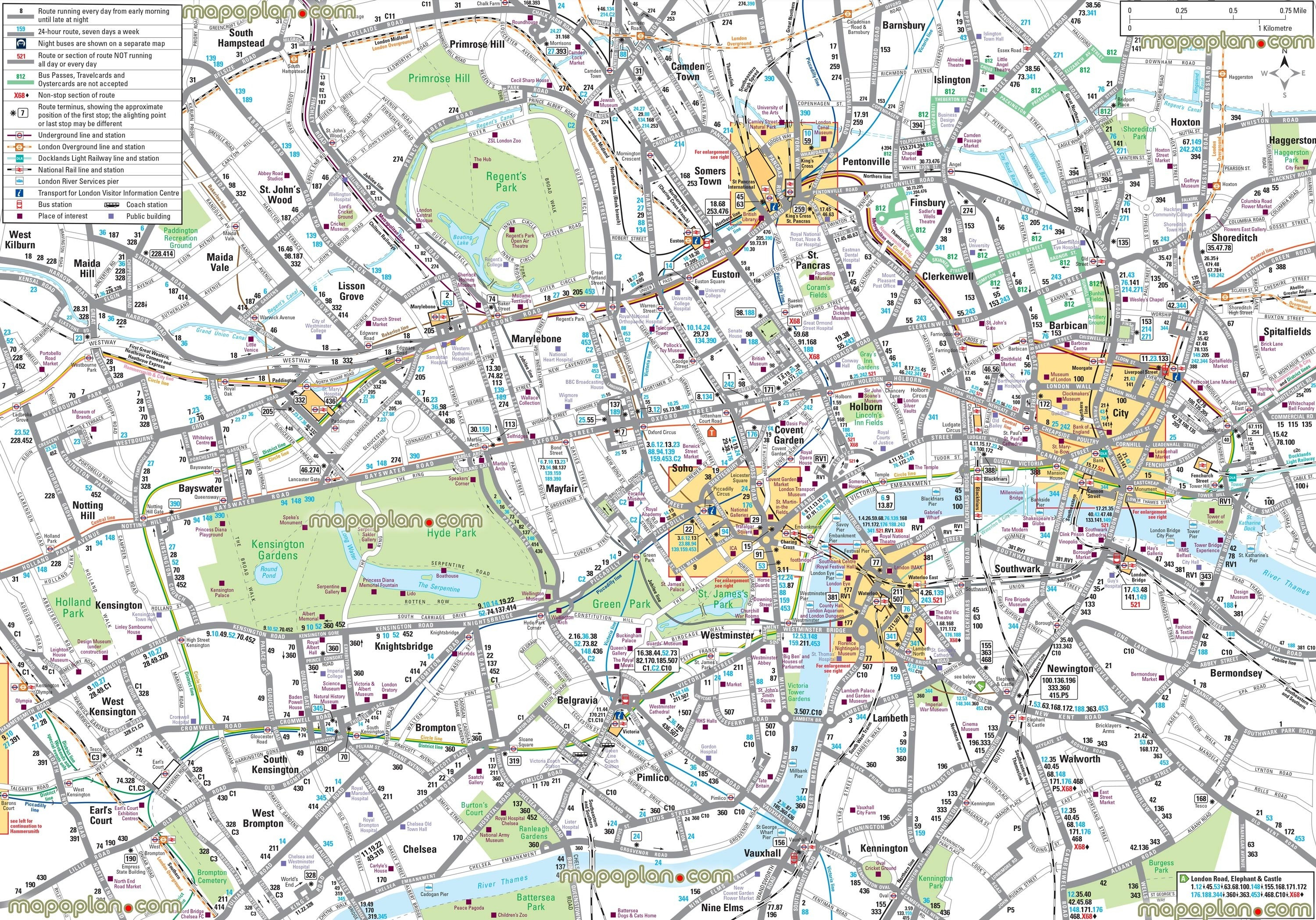 London Maps Top Tourist Attractions Free Printable City Inside Map