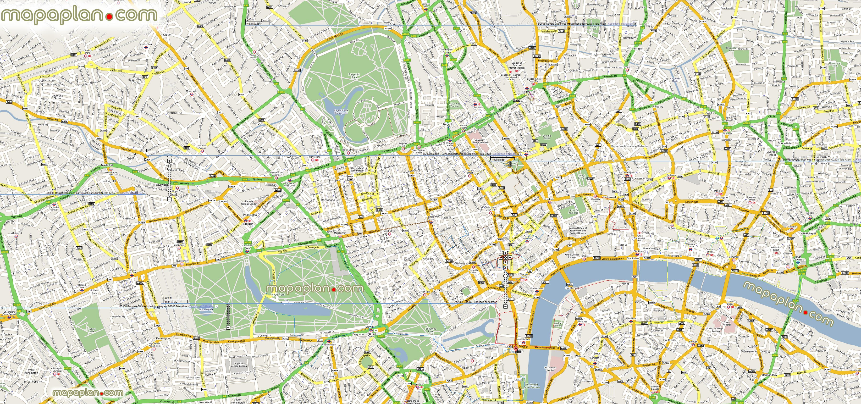 Tourist Map London City Centre Beautiful Printable Us Map with