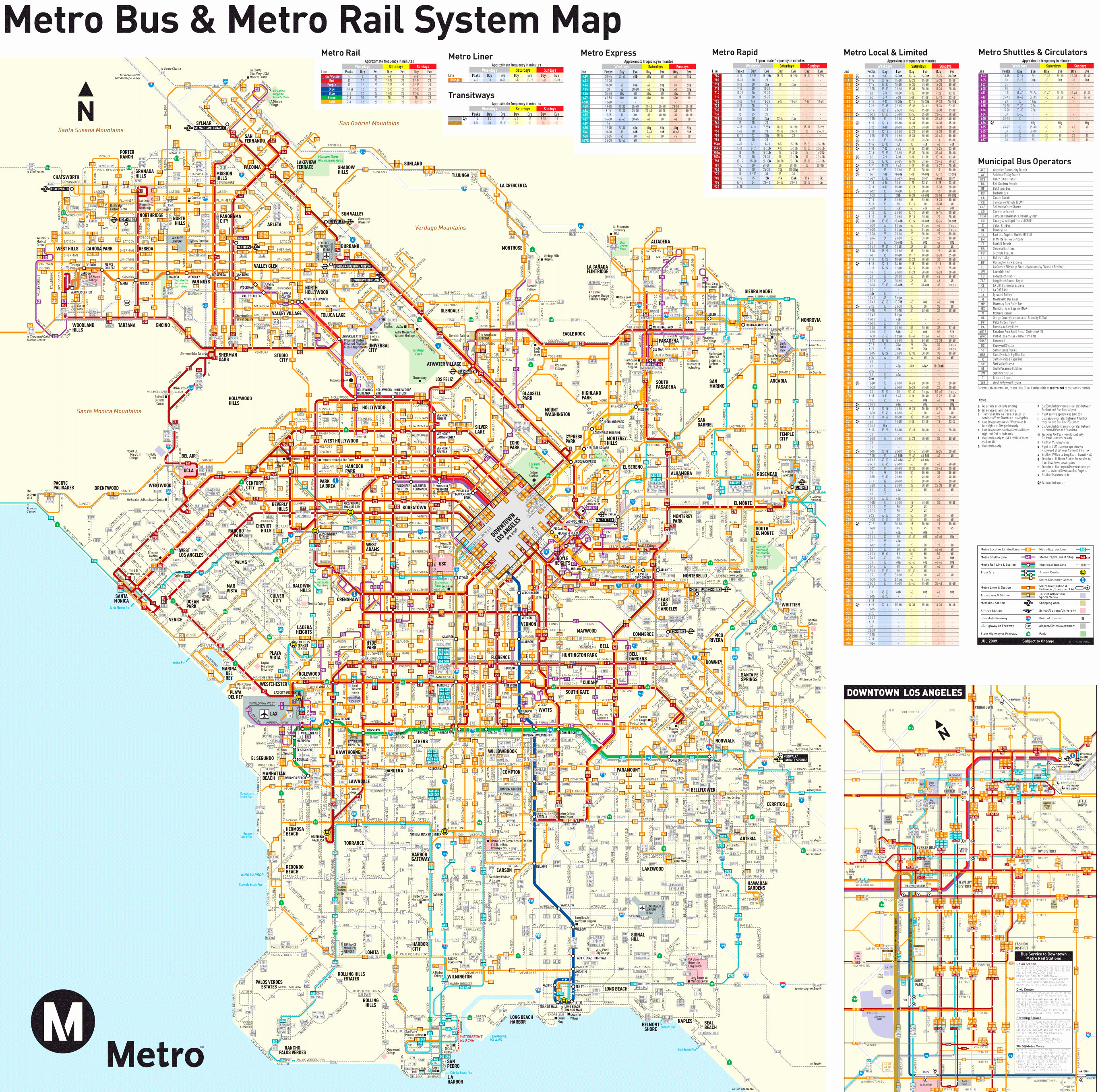 Los Angeles California A Map Printable Maps Los Angeles In Us Map