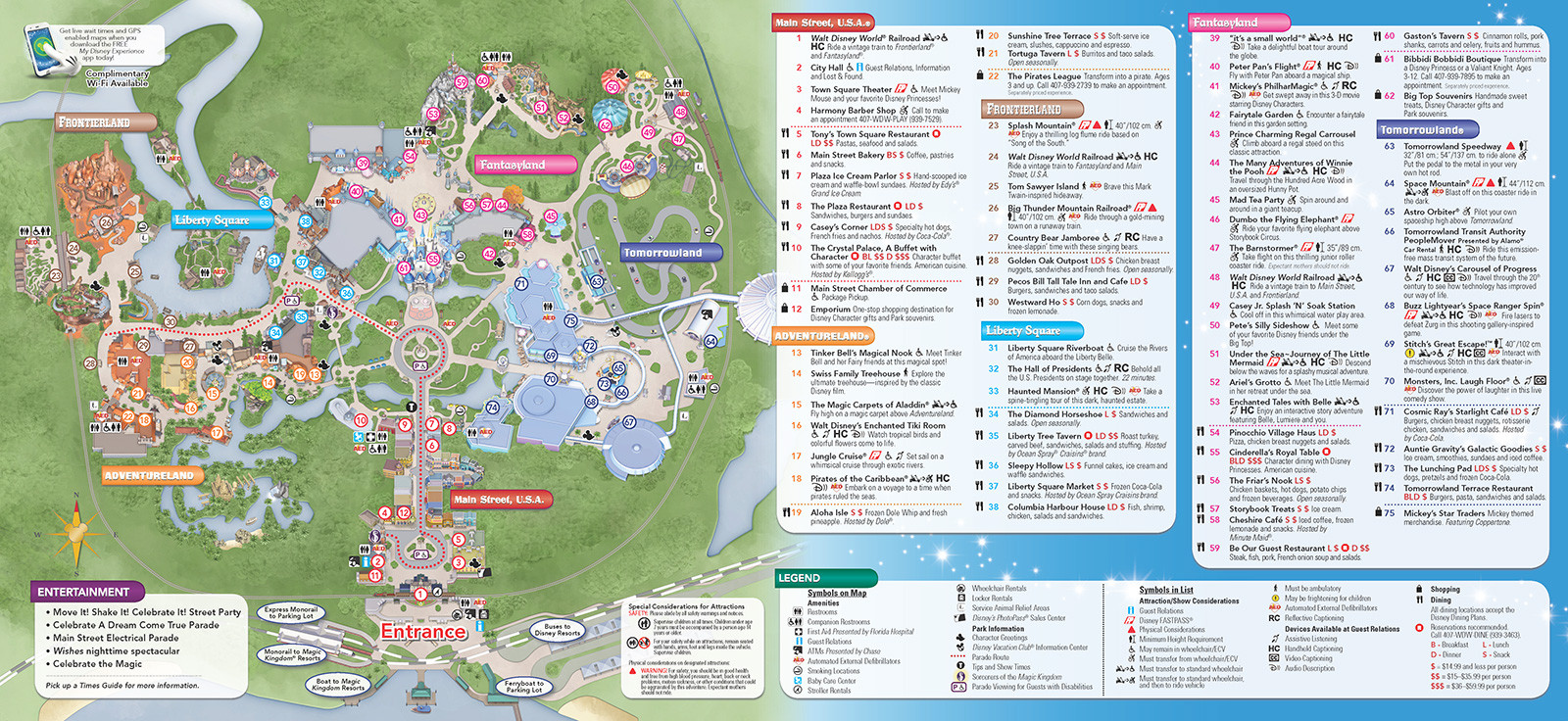 Printable Map Magic Kingdom 2018 Awesome New 2013 Park Maps And Times Guides 4 Of 20