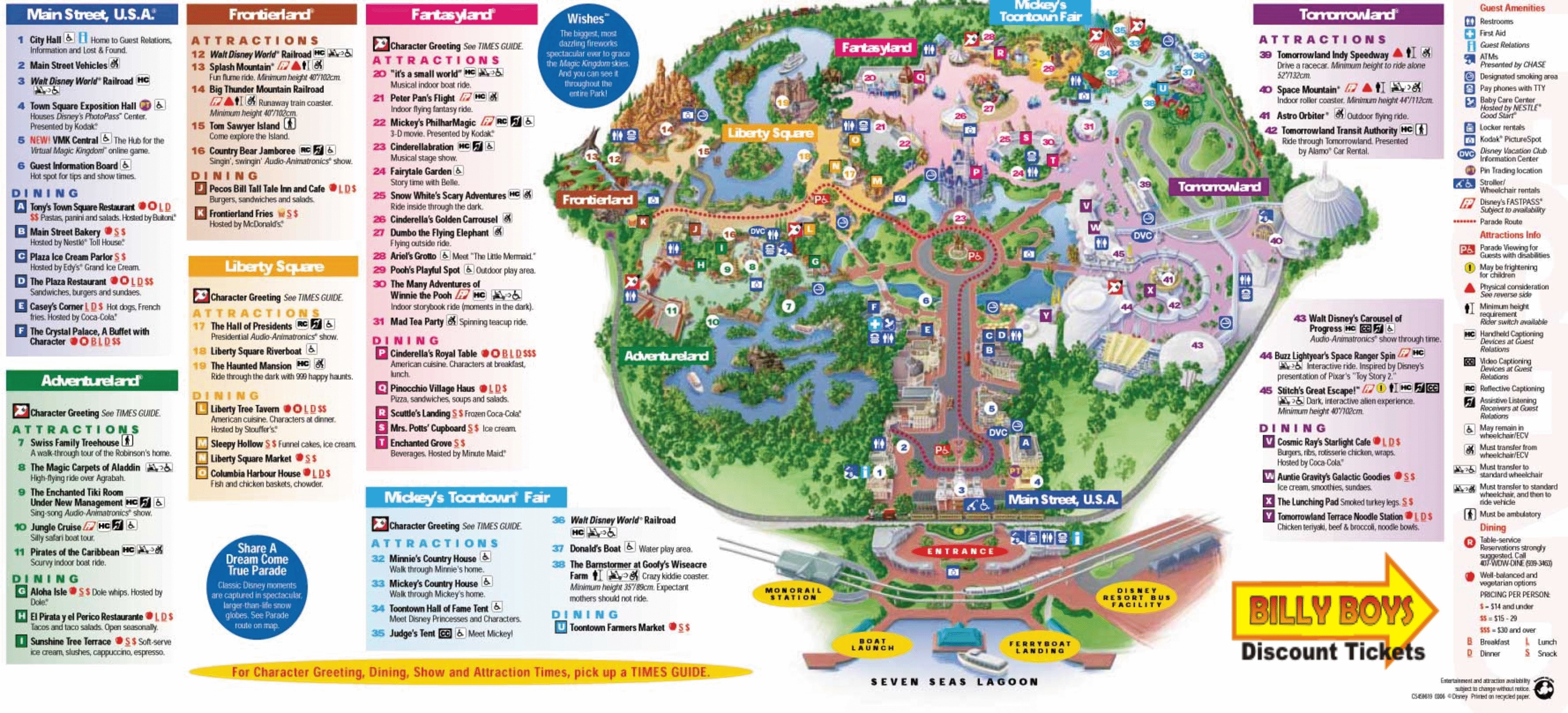 Printable Map Magic Kingdom 2018 Lovely Disney World Map Magic Kingdom Pdf Inspirationa Walt New Maps
