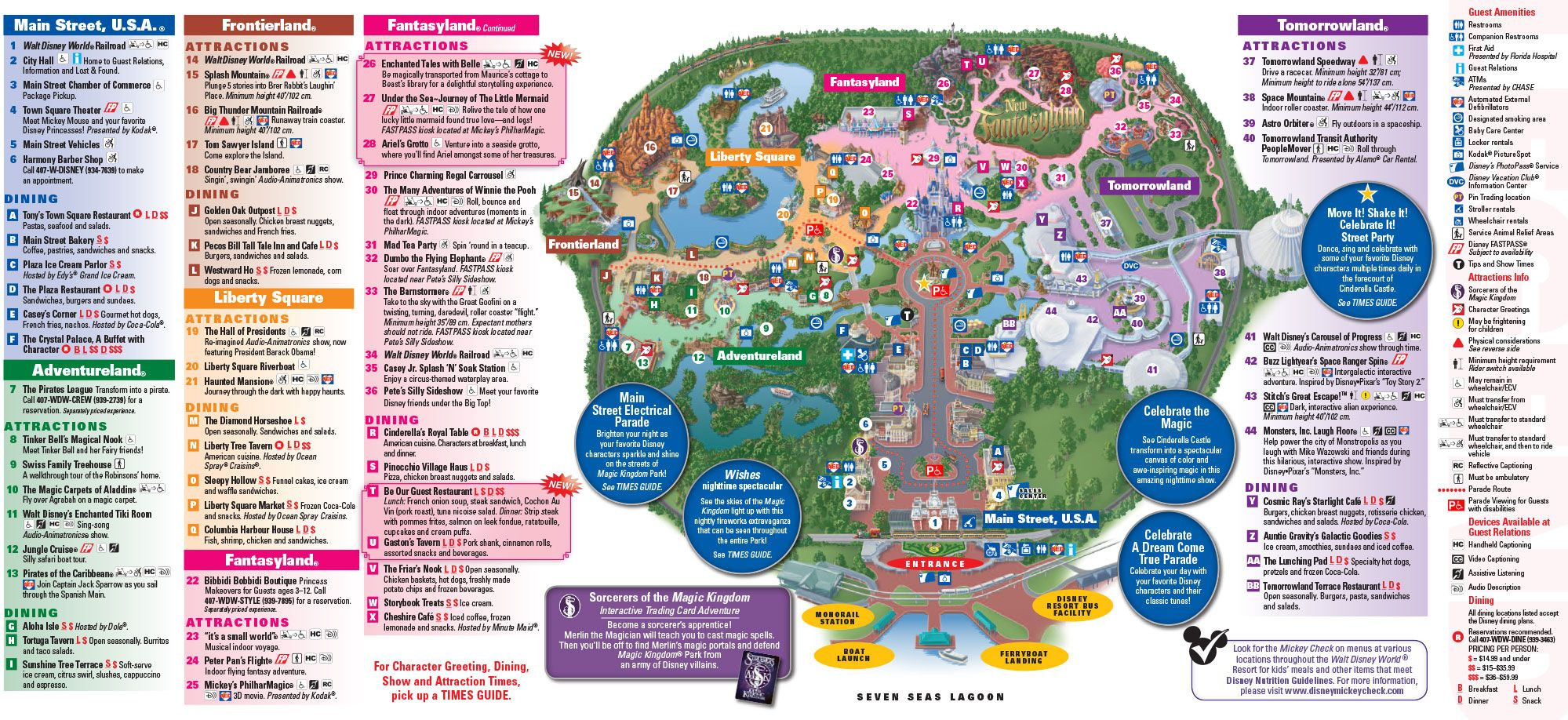 Printable Map Magic Kingdom 2018 Lovely Town Square Theater This Is The Very First Building To The Far