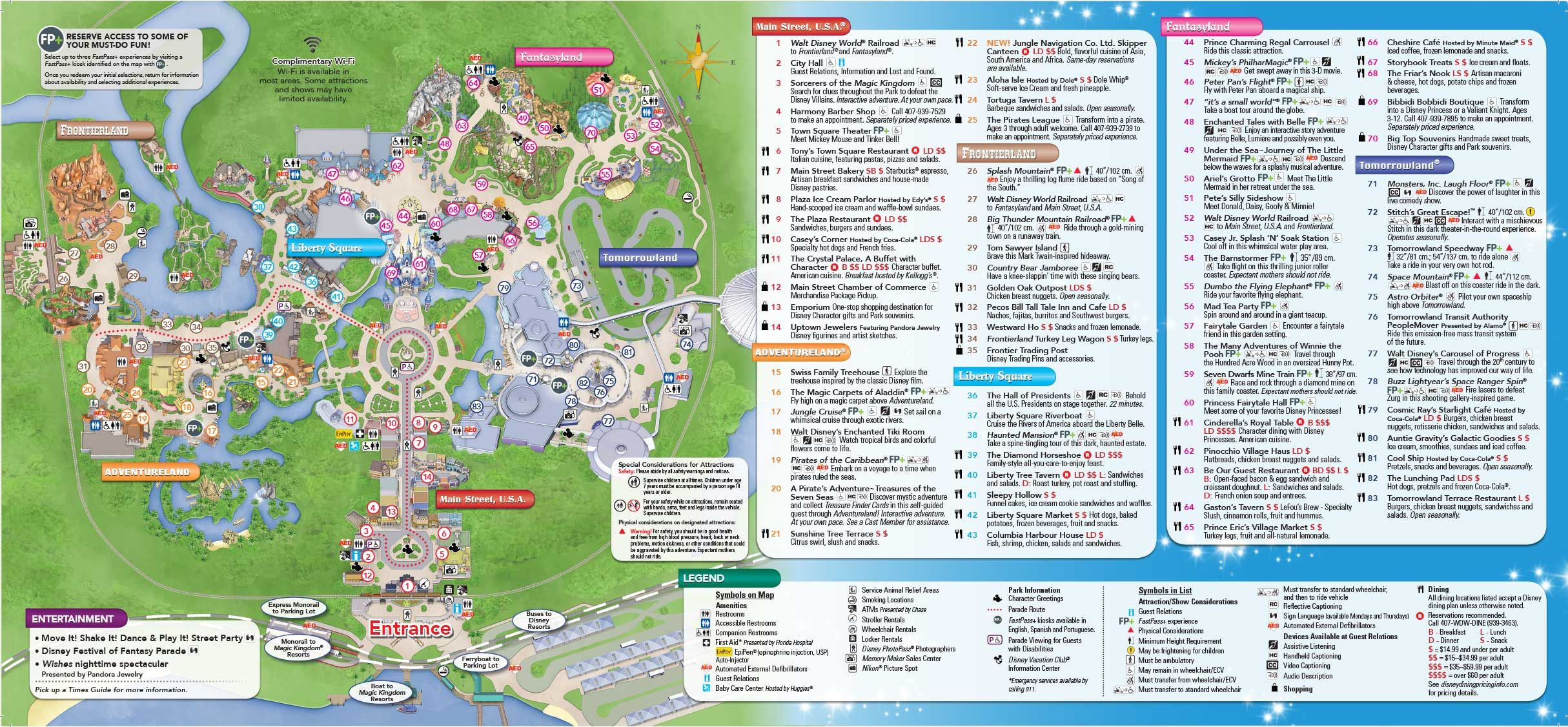 Printable Map Magic Kingdom Lovely Rmh Travel Paring Disneyland To Walt Disney World Magic