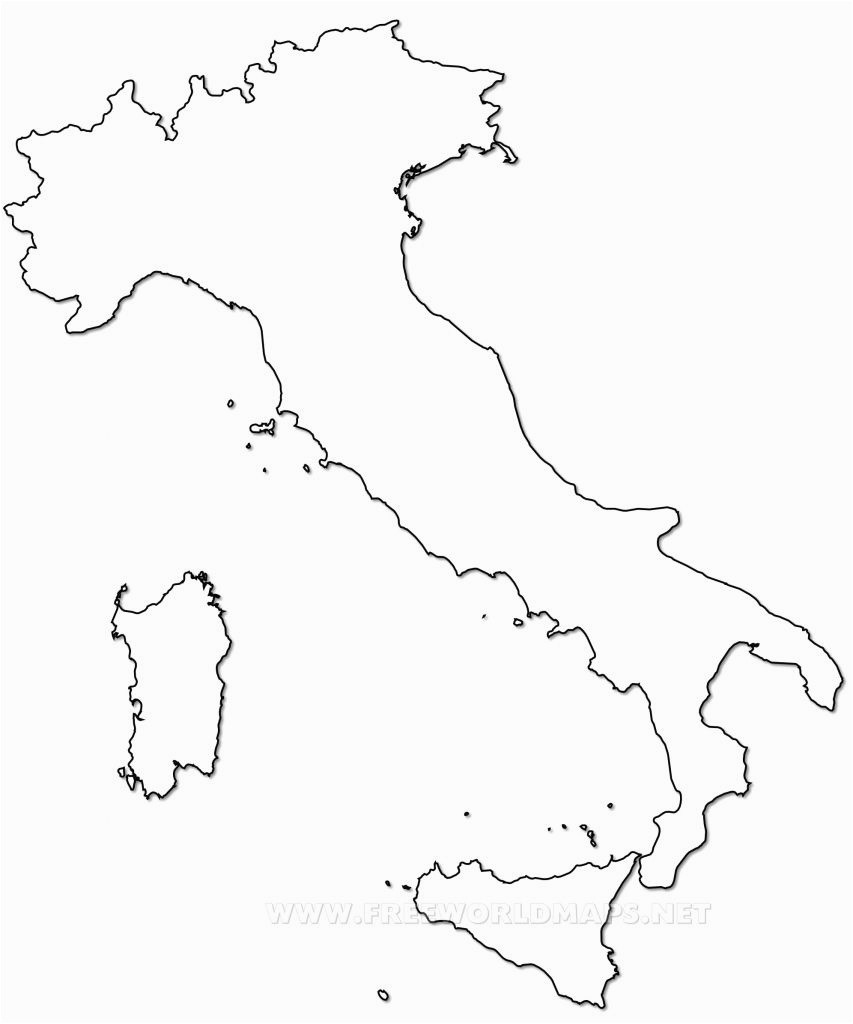 Printable Map Scotland Elegant Outline Map Italy Printable with Italy Political Map T37 55 23 KB