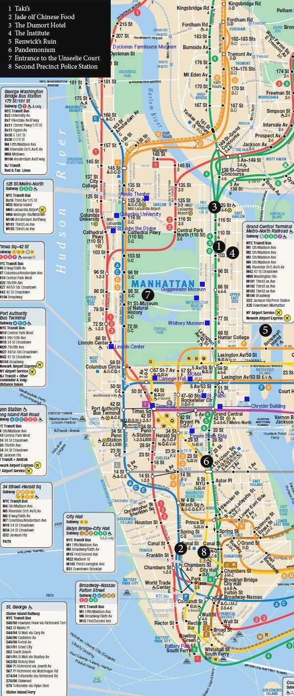 Printable Map Manhattan Awesome Awesome Nyc Attractions Map