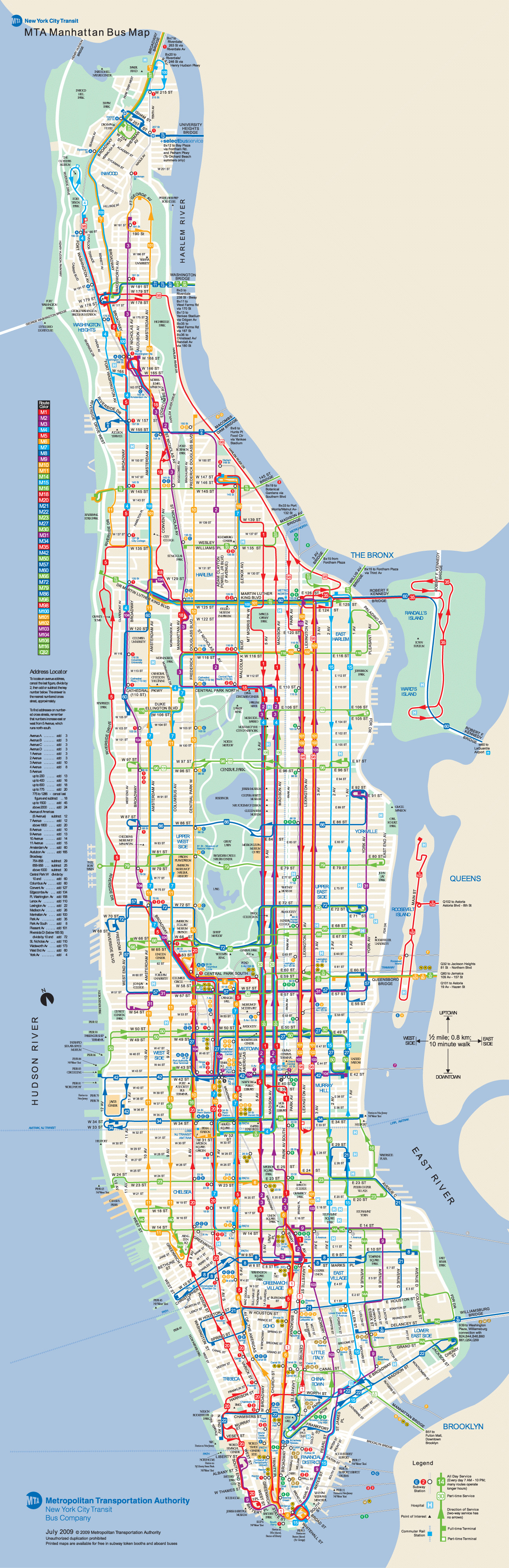 Printable Map Manhattan Beautiful Manhattan Bus Map New York Metropolitan Area Pinterest