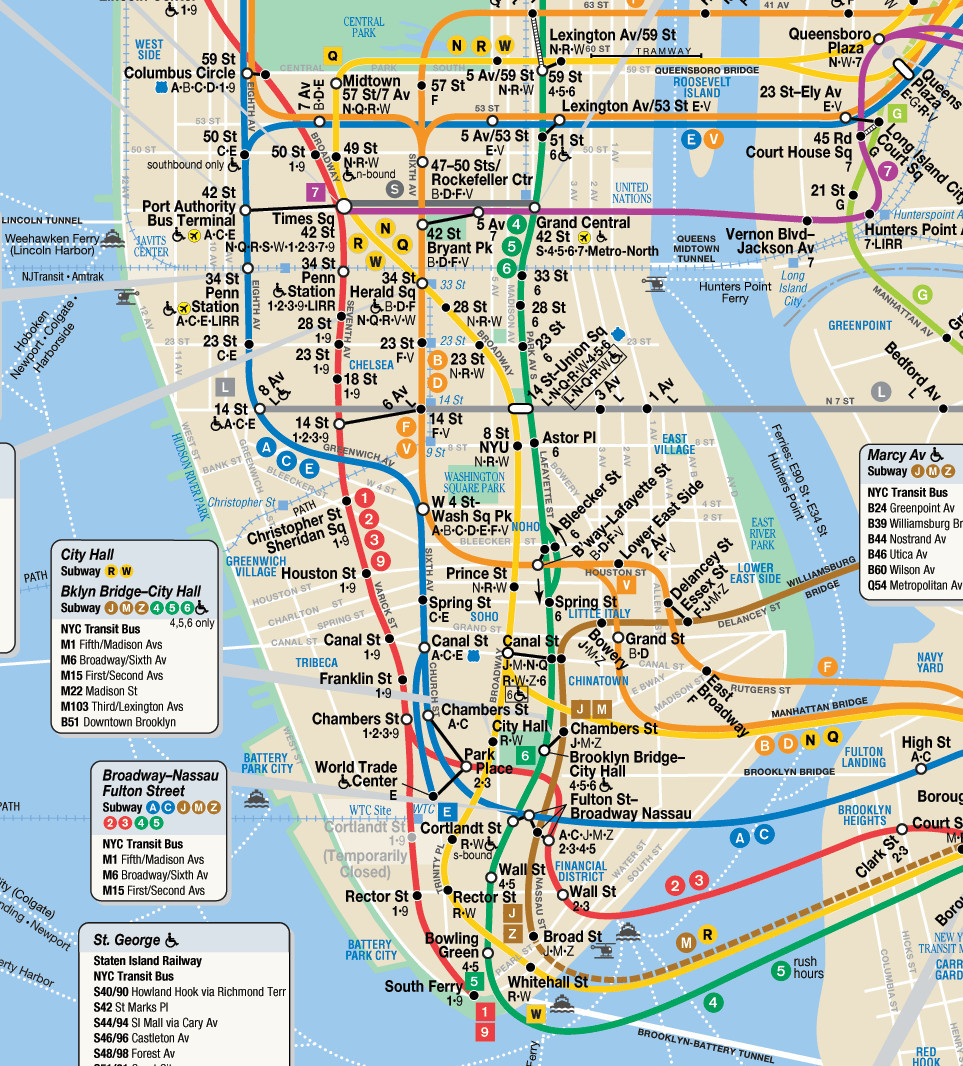 Printable Map Manhattan Inspirational Manhattan Subway Map