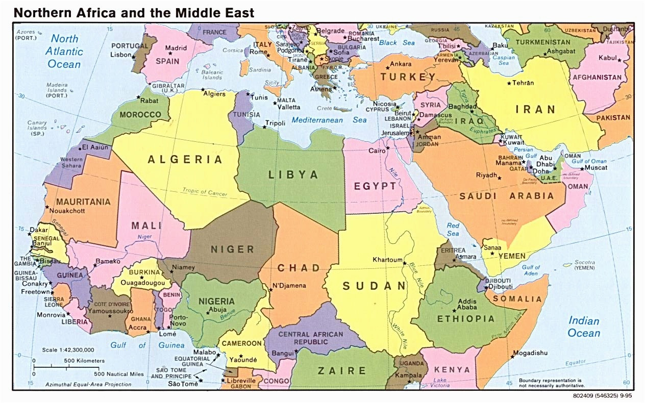Map Od Middle East Blank Map the Middle East and north Africa