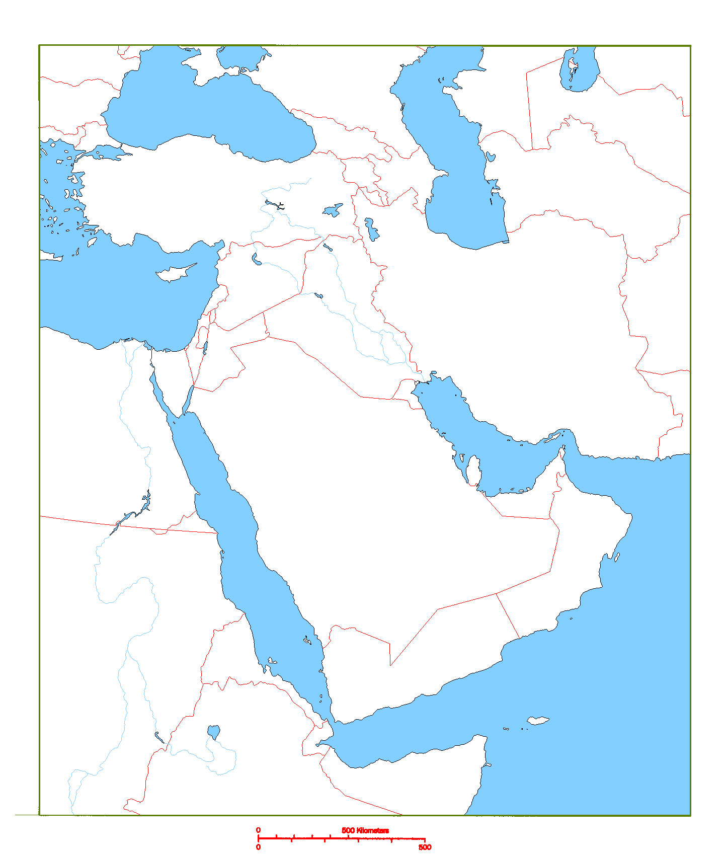 Printable Map Middle East Fresh Blank Map Of Middle East Cc Geography Pinterest