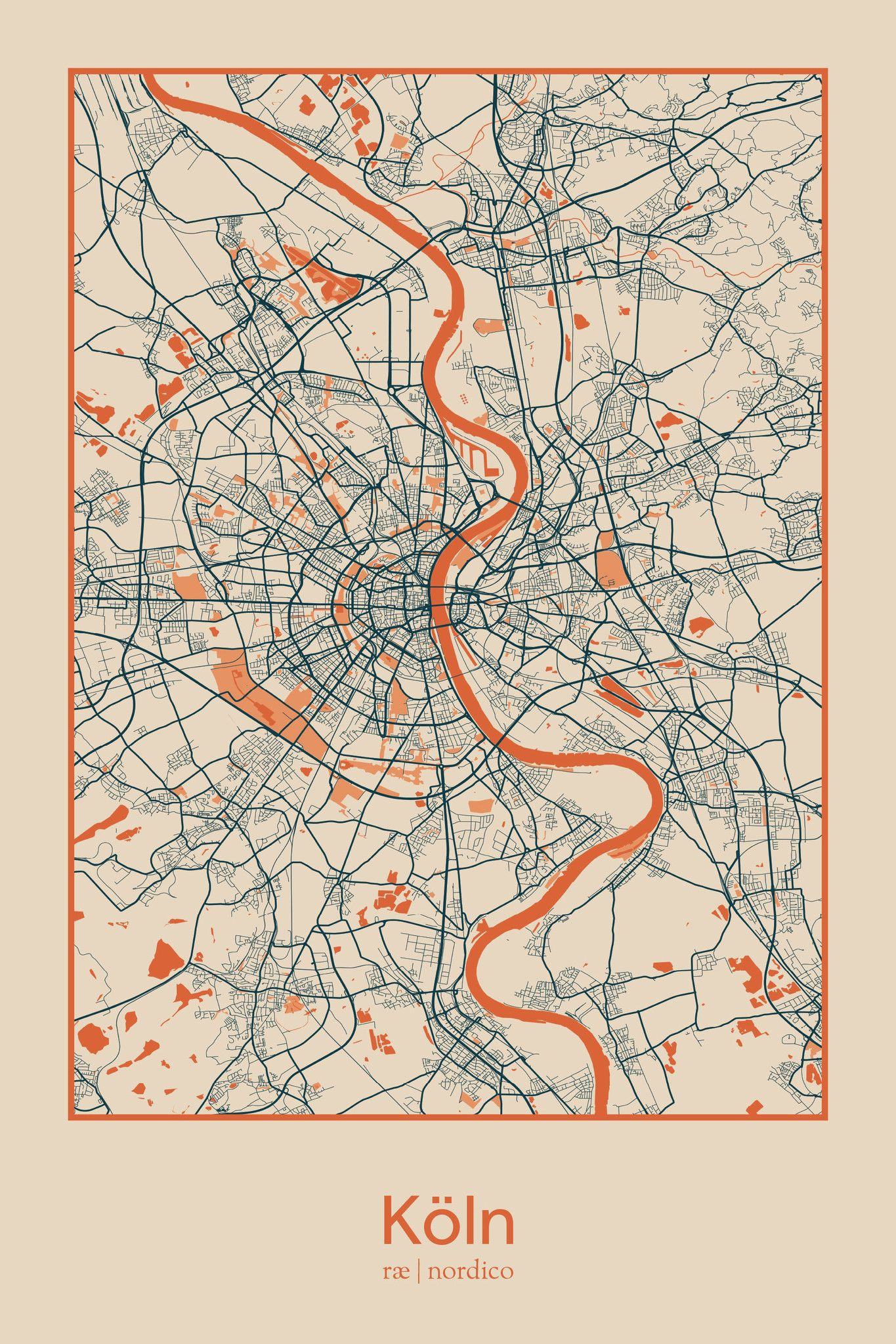 Cologne map print