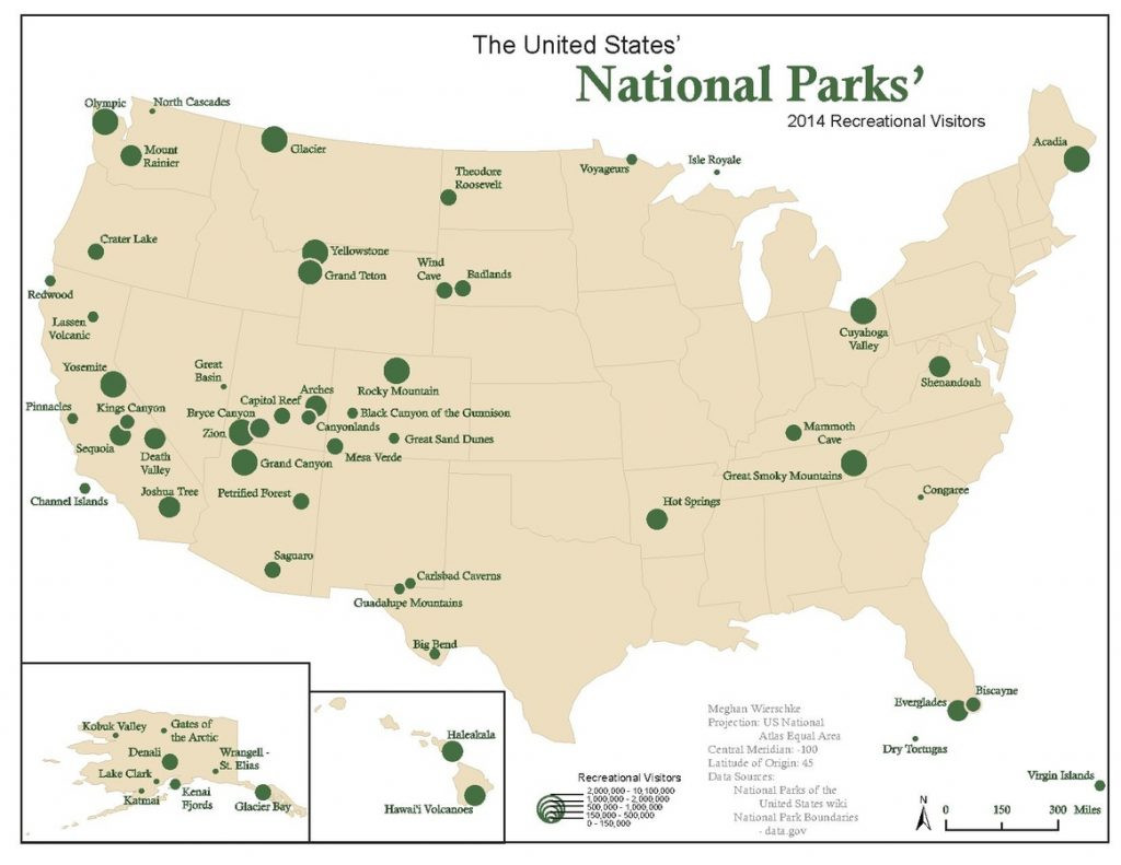 Printable Map National Parks Best Of United States Map National Parks Town Seek