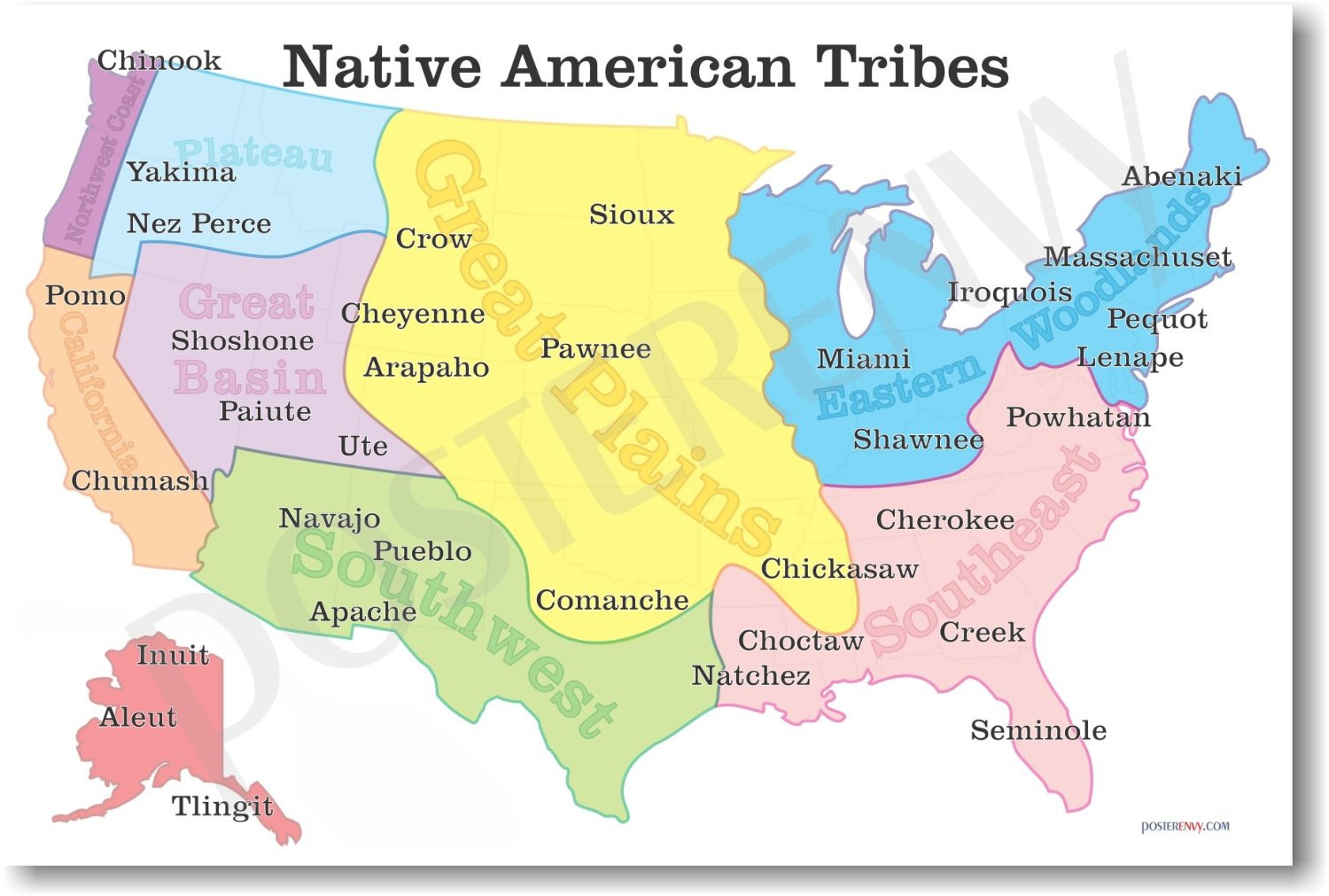 map of american tribes in america Teacheng